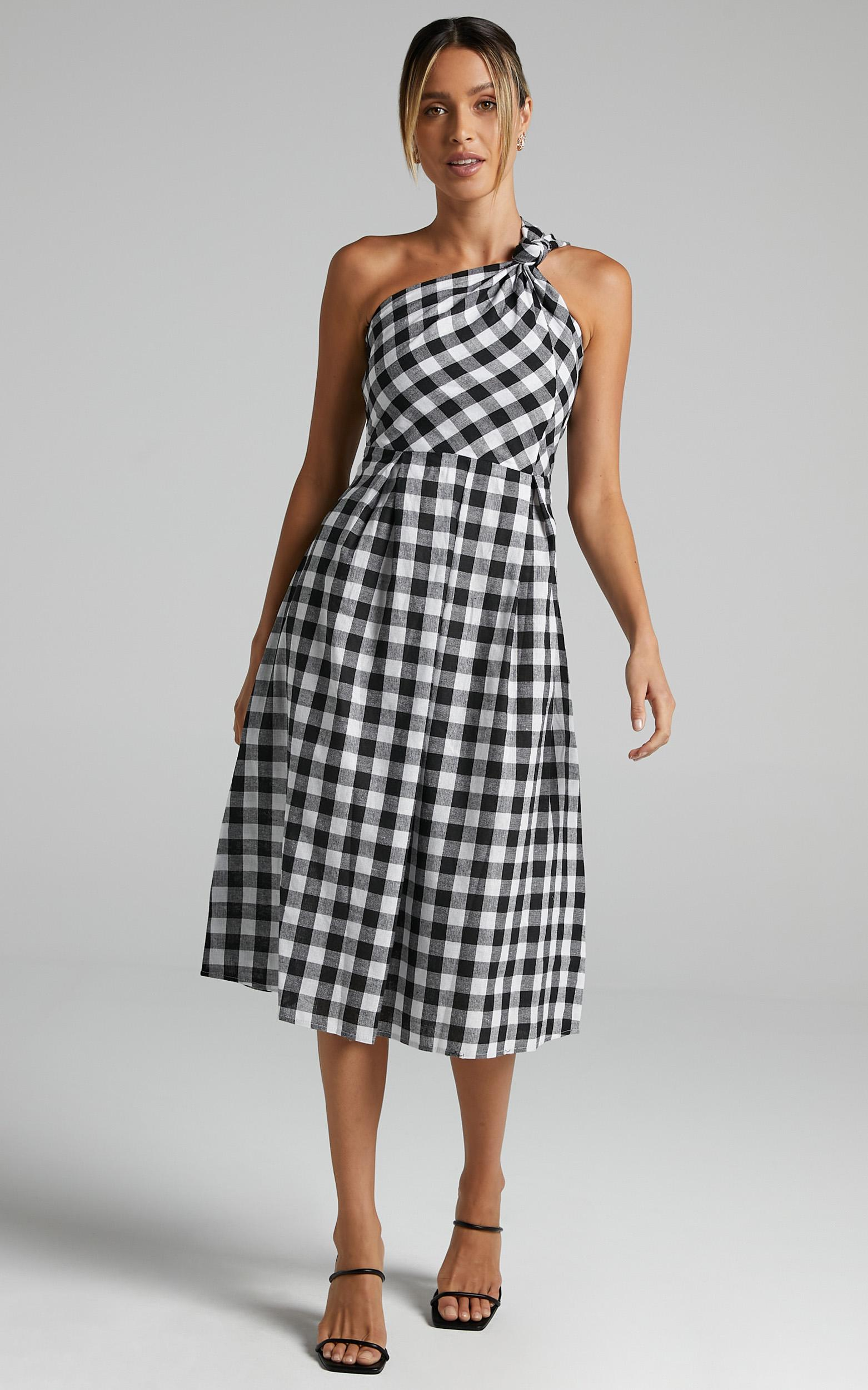 Lakeyn Dress in Black Gingham - 6 (XS), Black, hi-res image number null