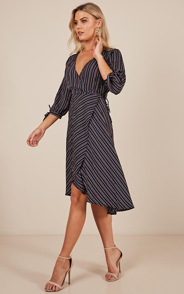Nice For What Dress in navy stripe - 12 (L), Navy, hi-res image number null