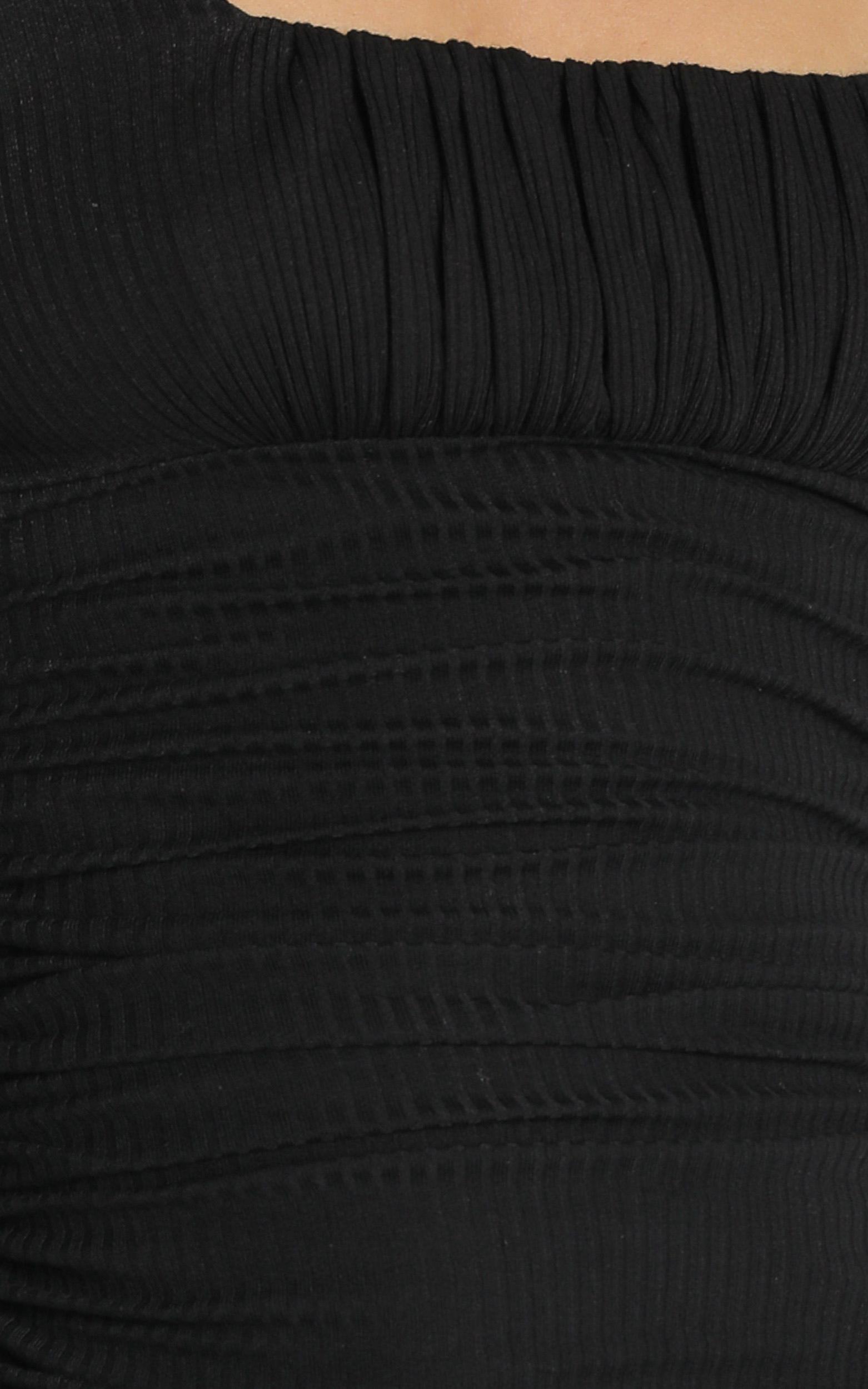 Farris Dress in Black - 6 (XS), Black, hi-res image number null