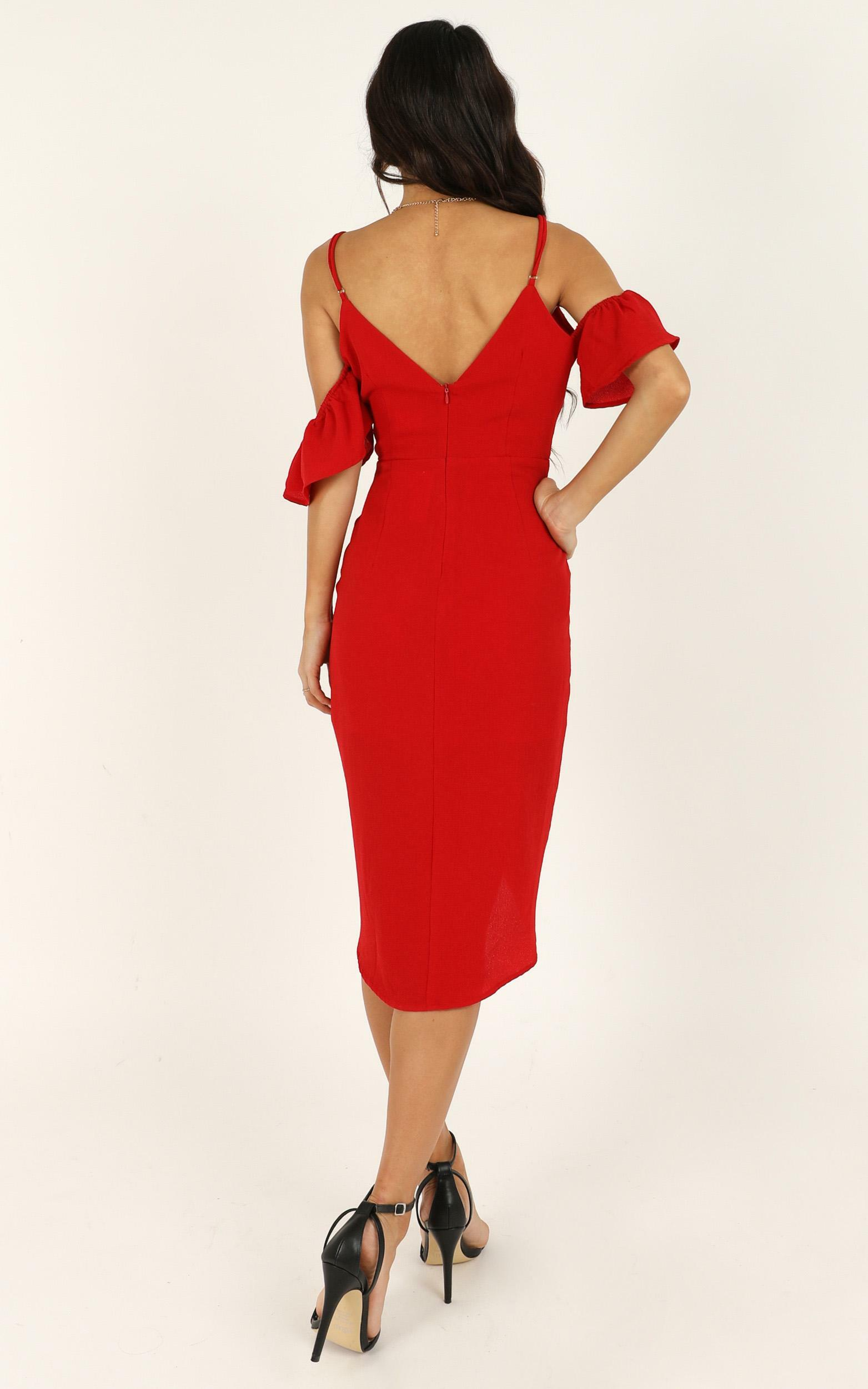 A Fair Go Dress in red - 20 (XXXXL), Red, hi-res image number null