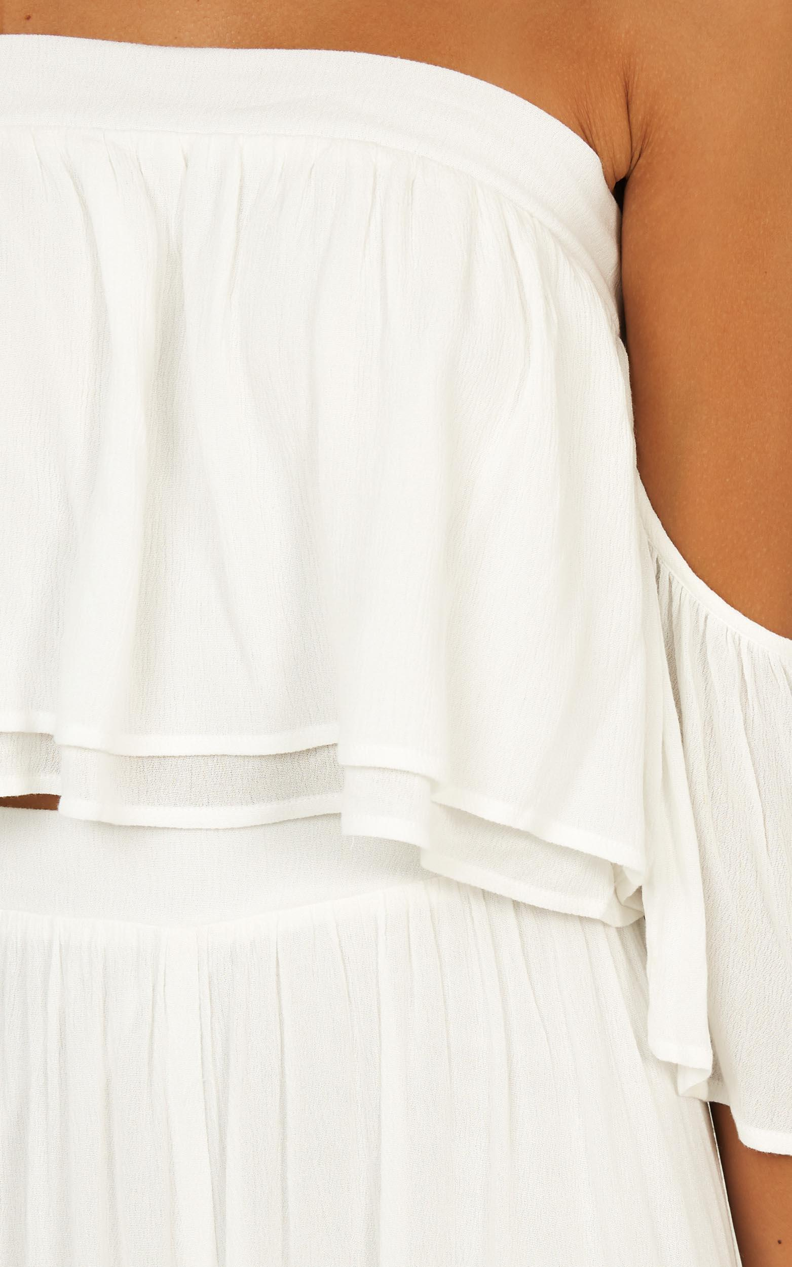 Daring Day Two Piece set in white linen look - 20 (XXXXL), White, hi-res image number null