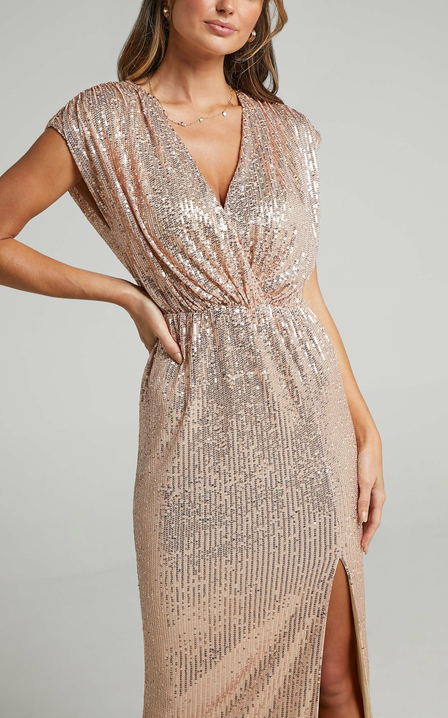 Remember The Day Dress in Rose Gold Sequin - 10, RSG1, hi-res image number null