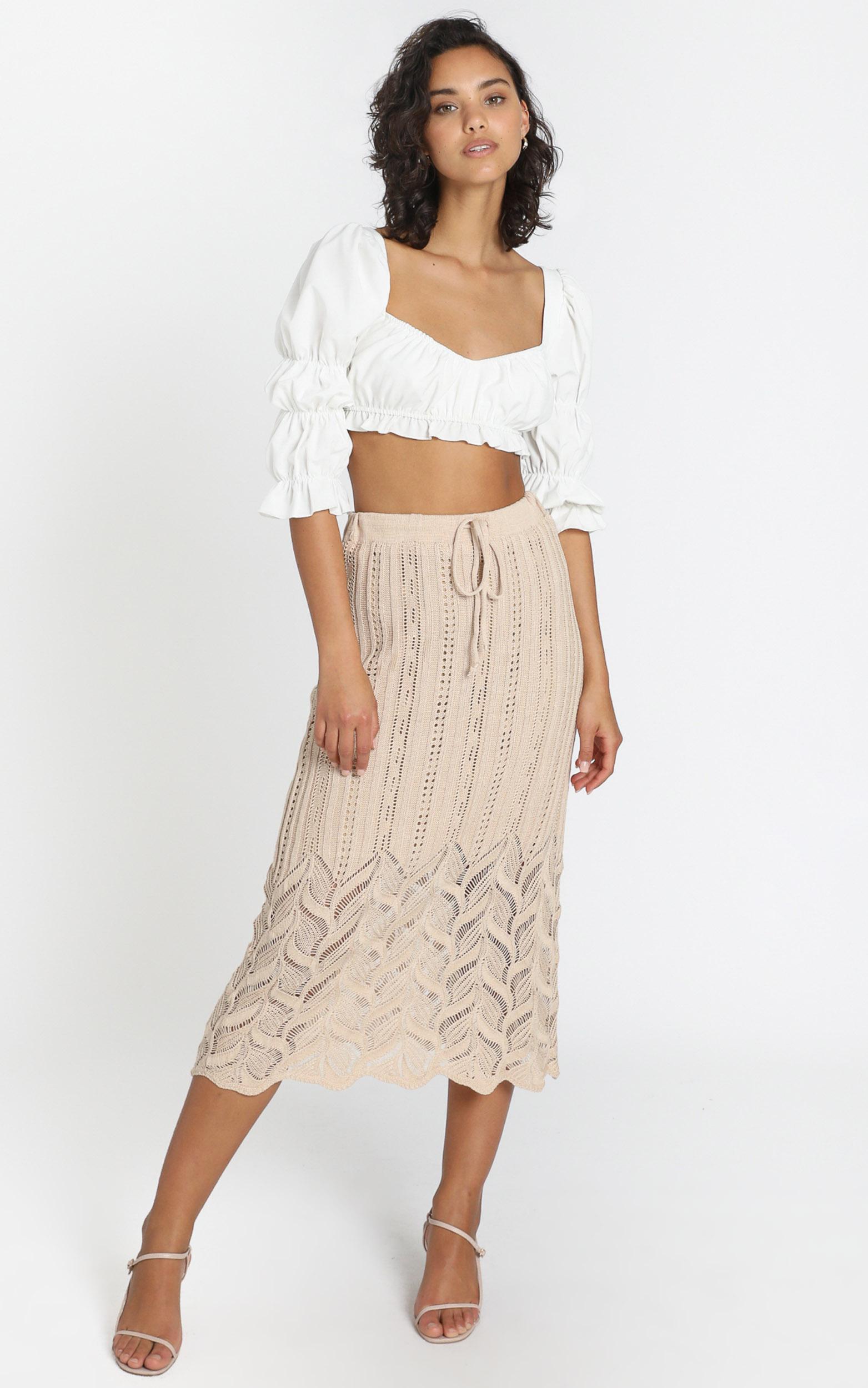 Shakira Skirt in Beige - S, Beige, hi-res image number null
