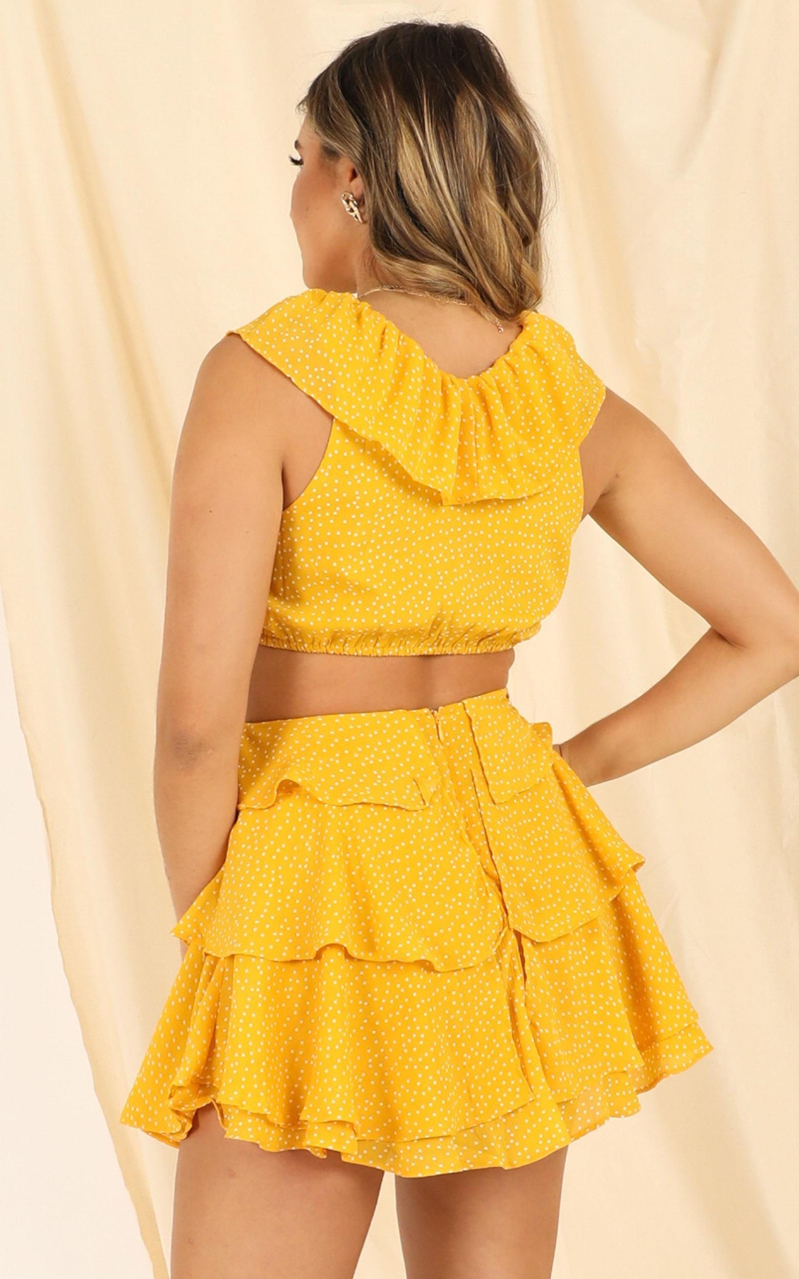 Way You Look dress in mustard spot - 12 (L), Mustard, hi-res image number null