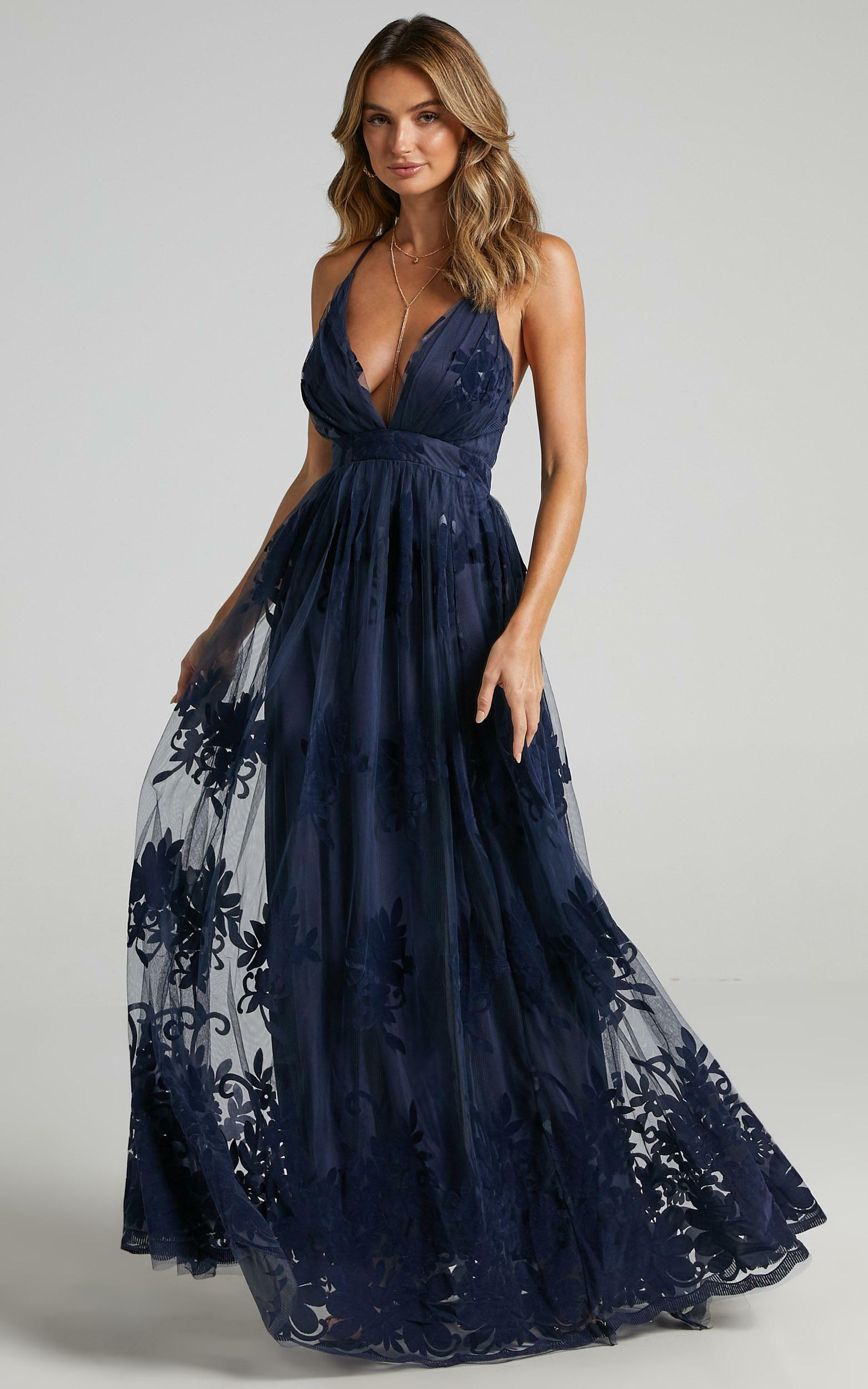 Promenade Maxi Dress in Navy - 08, NVY5, hi-res image number null