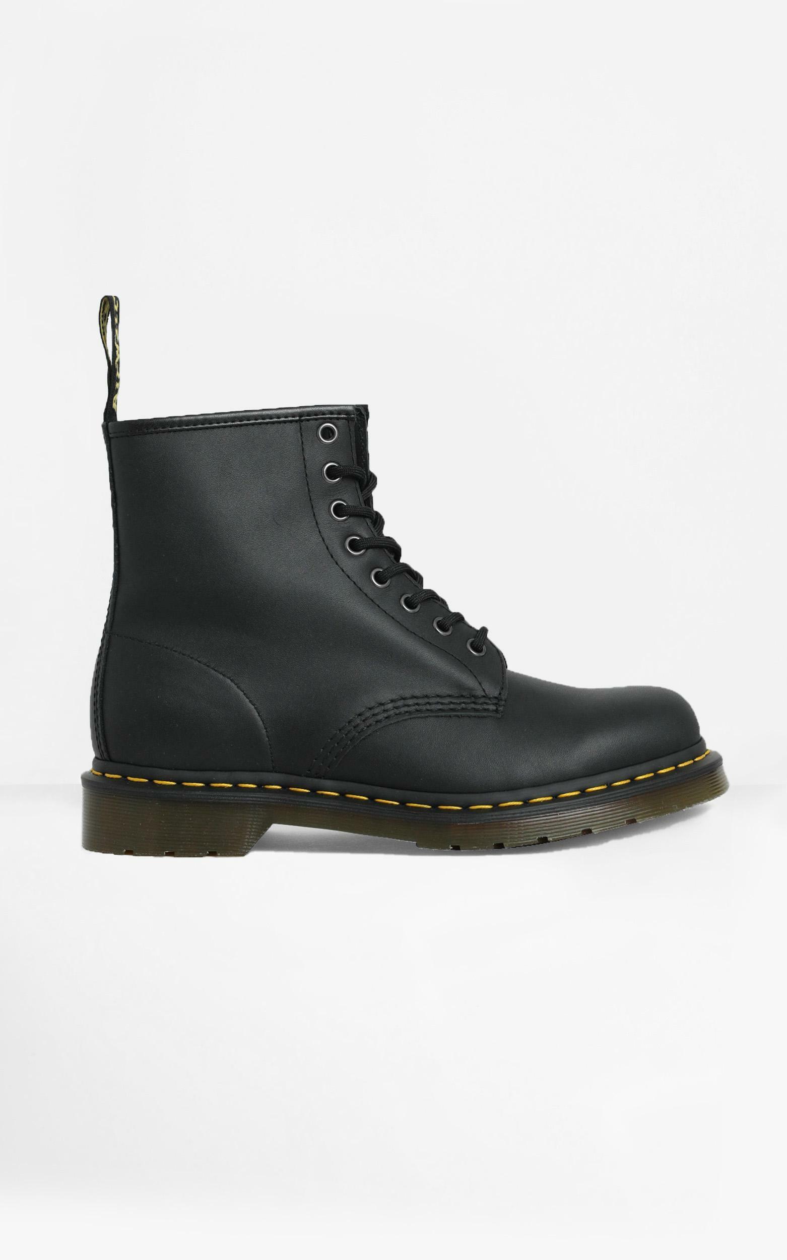 Dr. Martens - 1460 Nappa 8 Eye Boot in Black Nappa - 5, Black, hi-res image number null