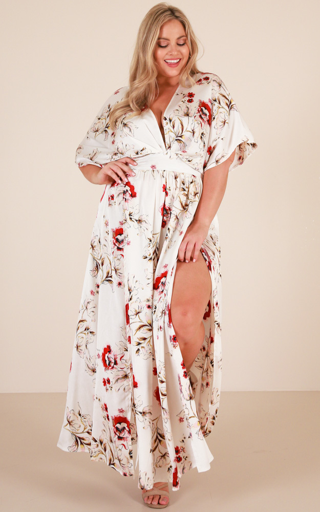Vacay Ready Maxi Dress in white floral - 20 (XXXXL), White, hi-res image number null