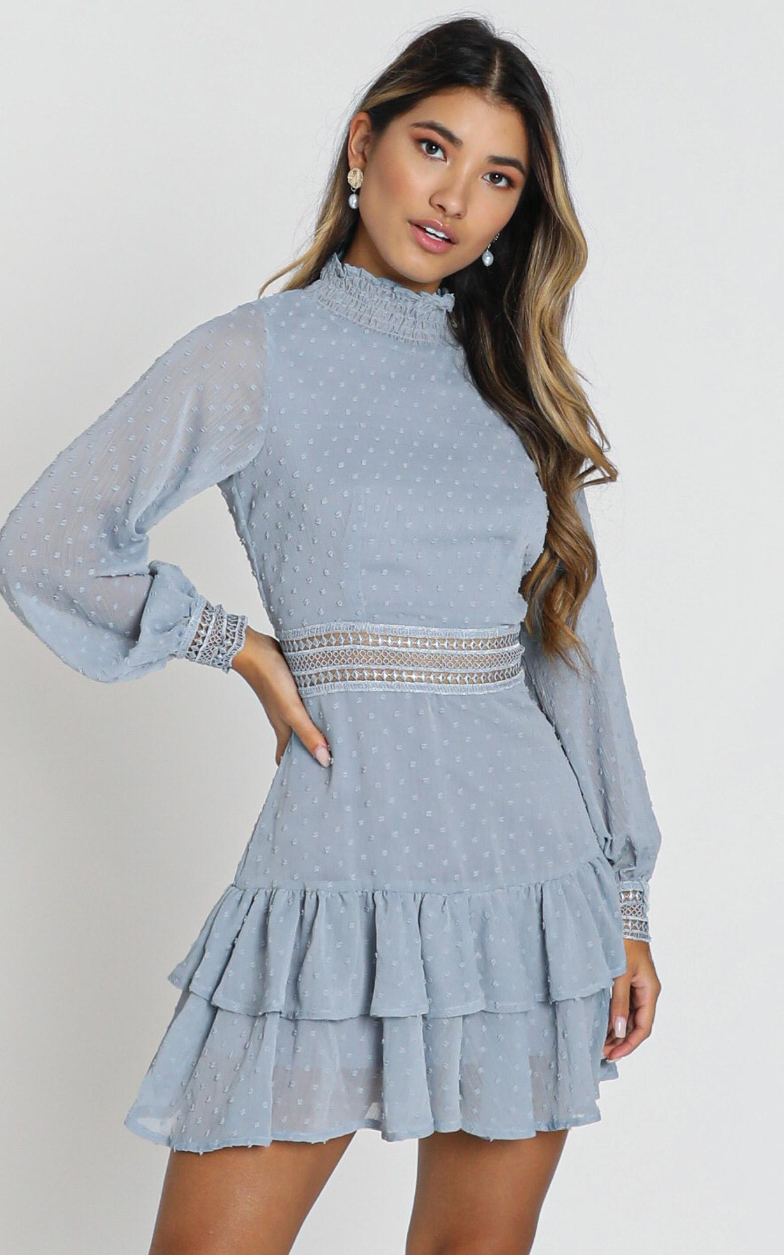 Are You Gonna Kiss Me Dress in dusty blue - 20 (XXXXL), Blue, hi-res image number null