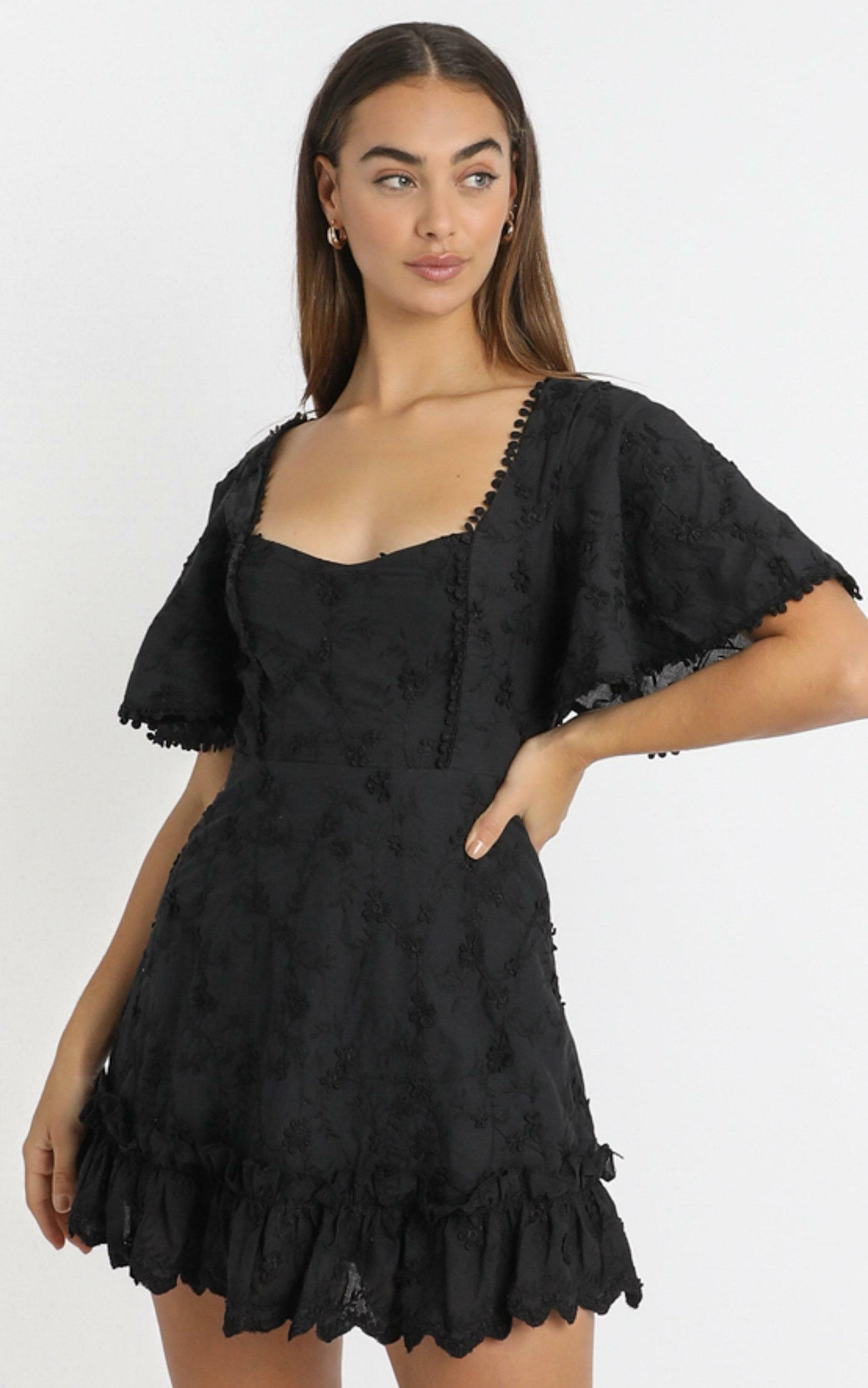 Fancy A Spritz Dress in black embroidery - 20 (XXXXL), Black, hi-res image number null