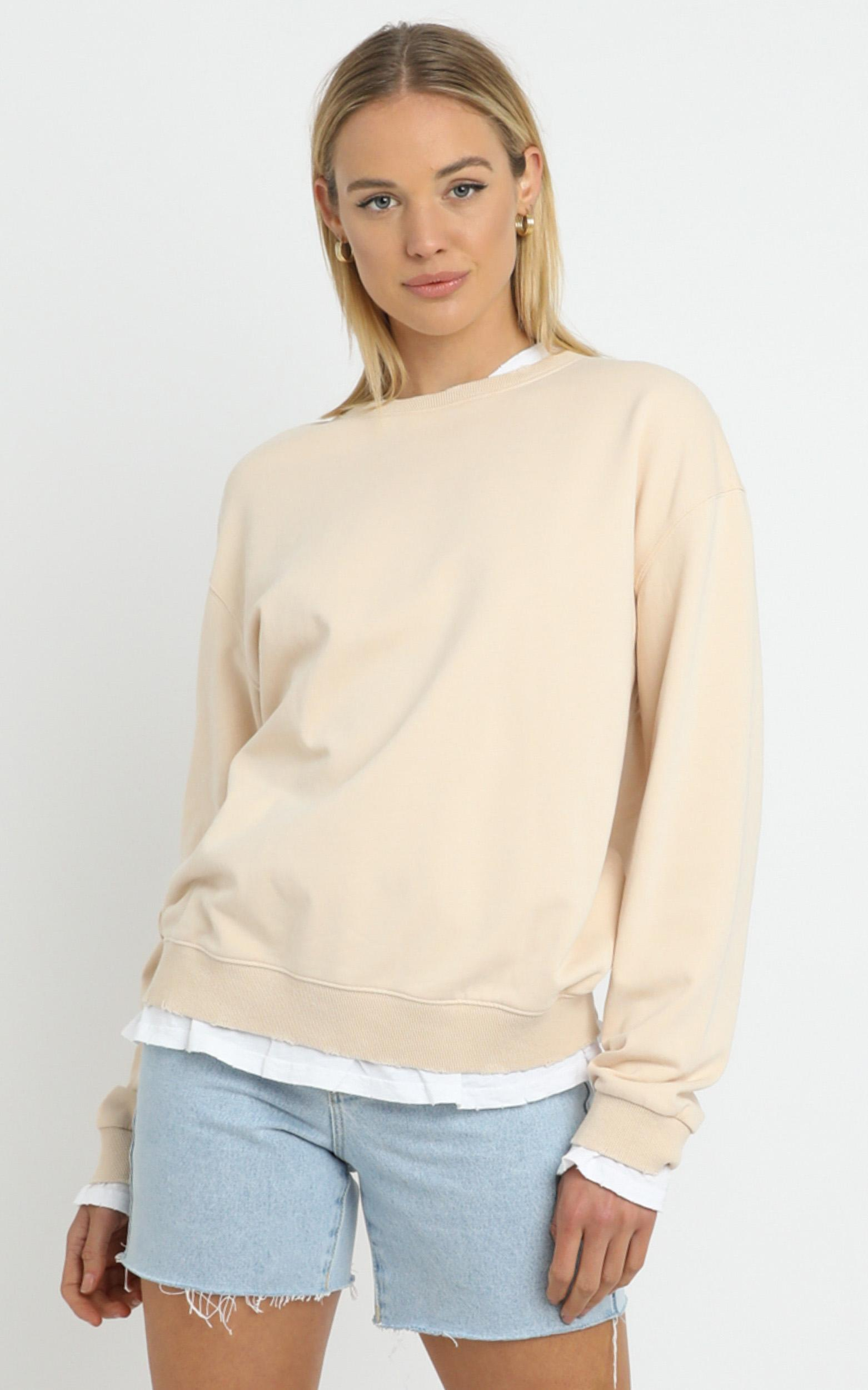 Terry Sweater in Beige - 14 (XL), CRE1, hi-res image number null