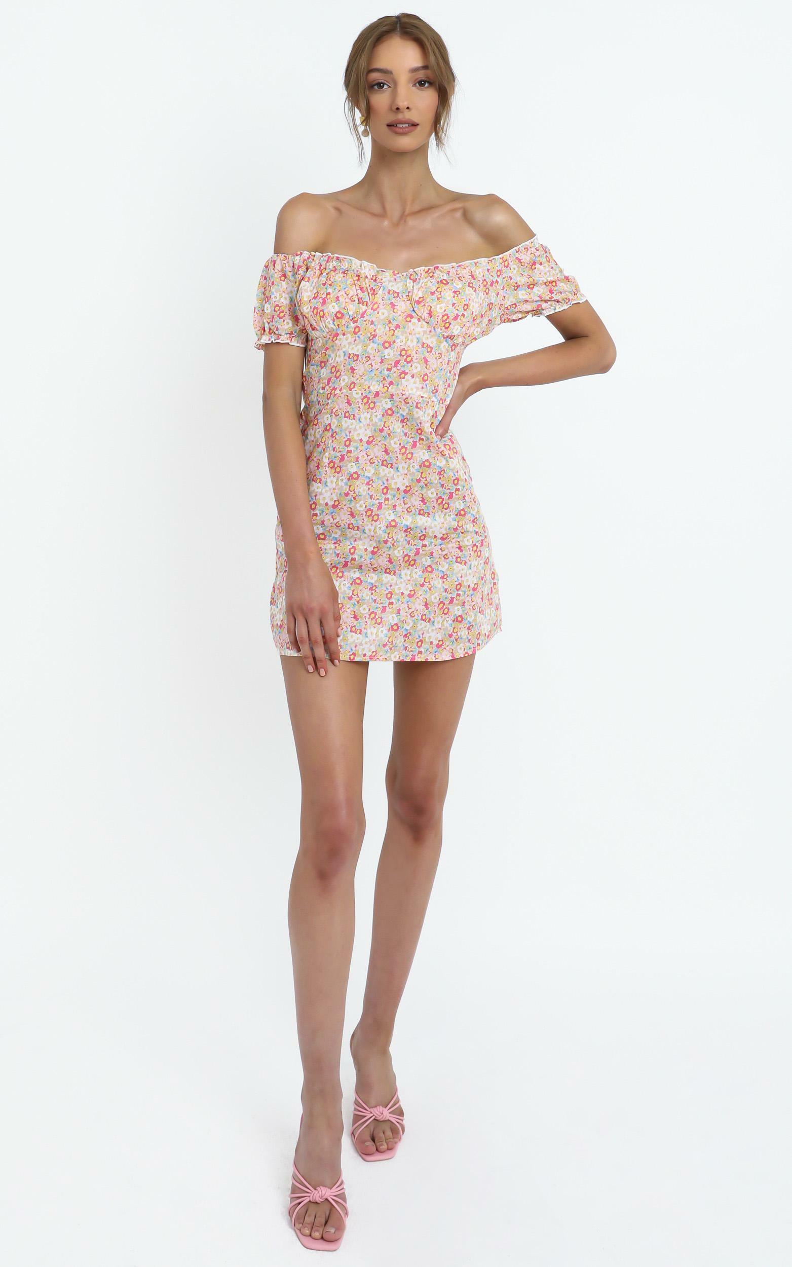 Meadows Dress in Pink Floral - 12 (L), Pink, hi-res image number null