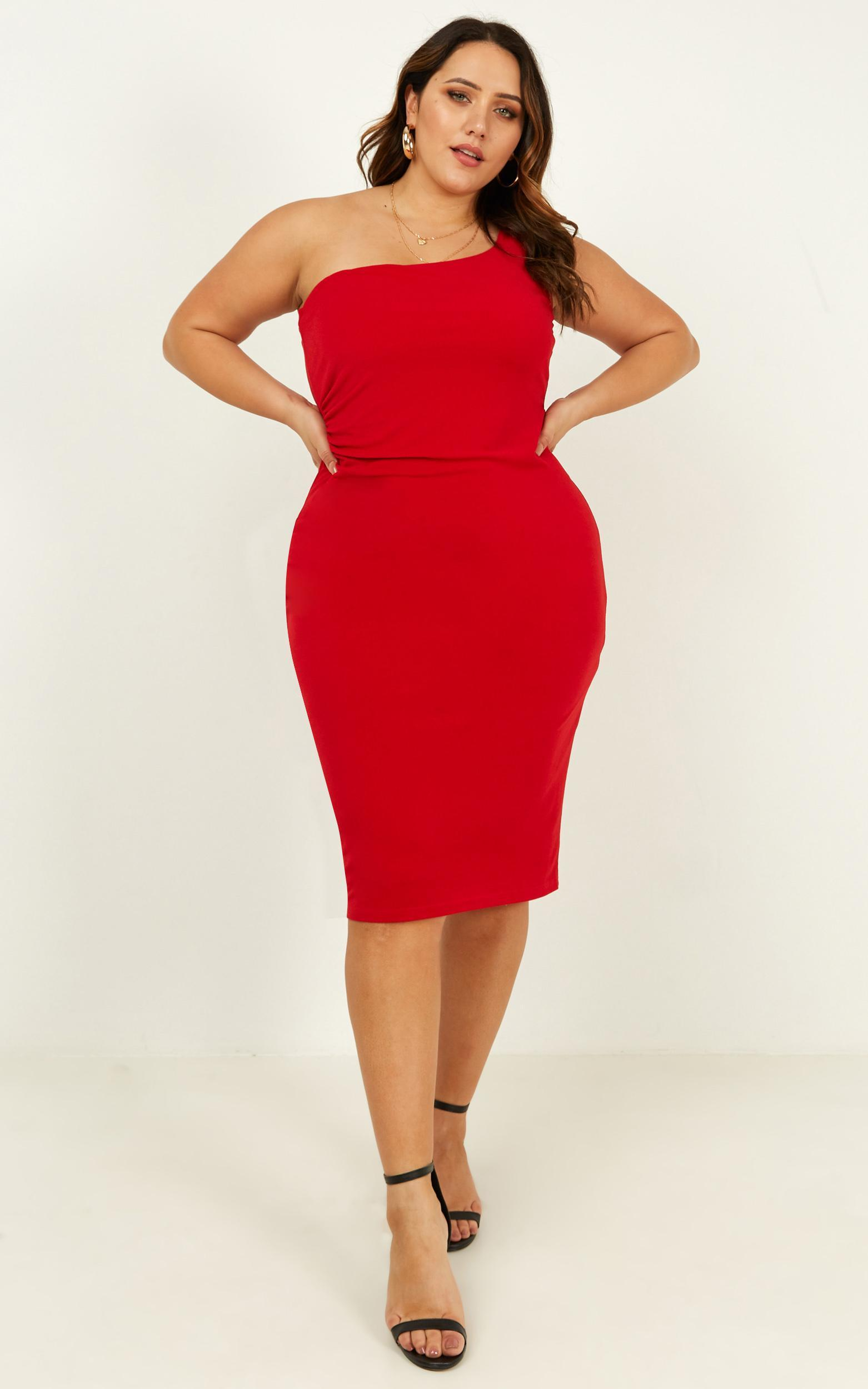 Got Me Looking Dress in red - 20 (XXXXL), Red, hi-res image number null