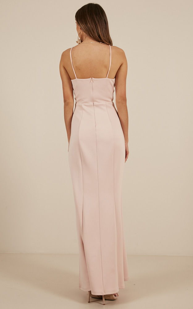 Dare To Dream Maxi Dress in Blush - 20 (XXXXL), Blush, hi-res image number null
