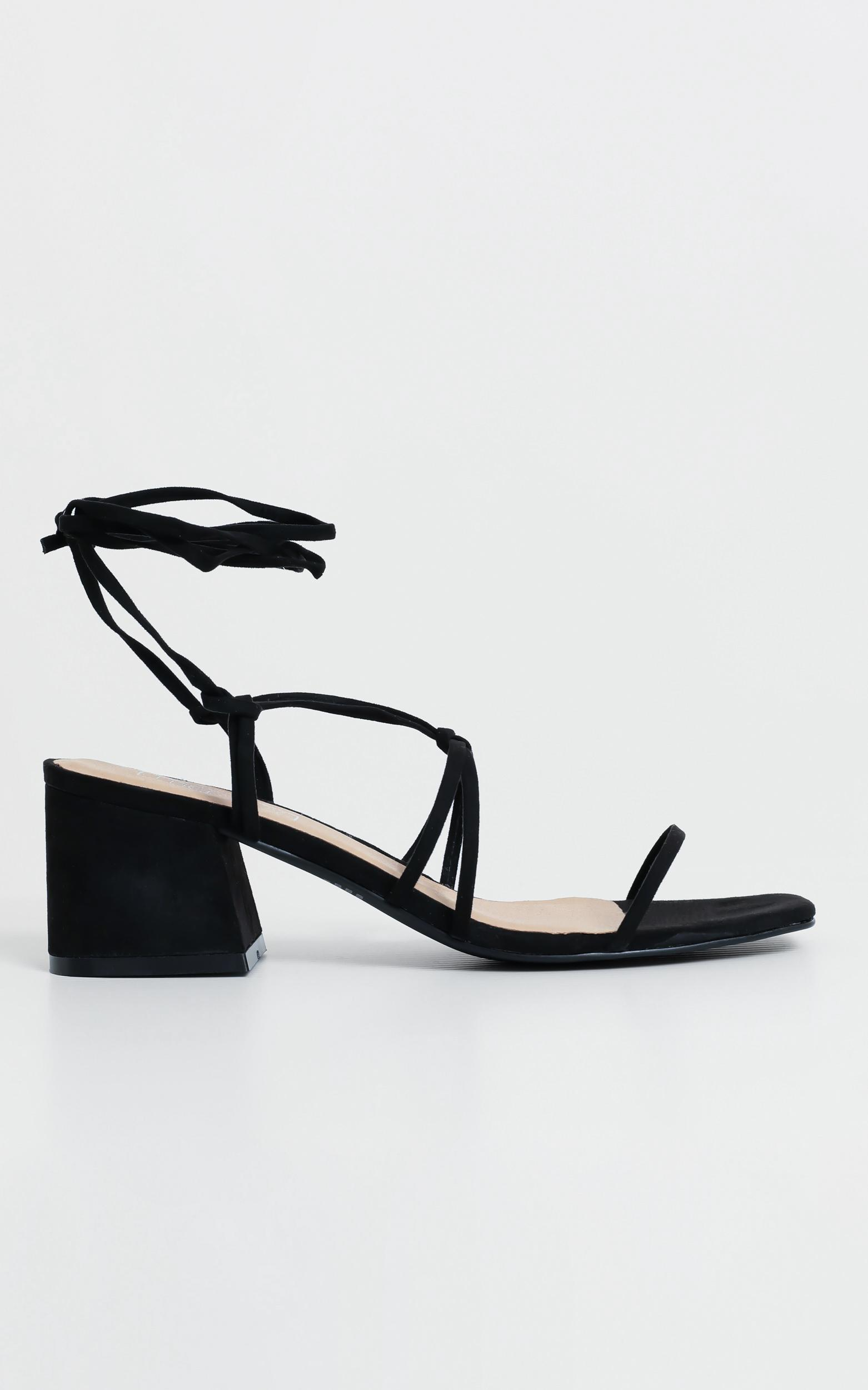Therapy - Ariva Heels in Black Suedette, Black, hi-res image number null