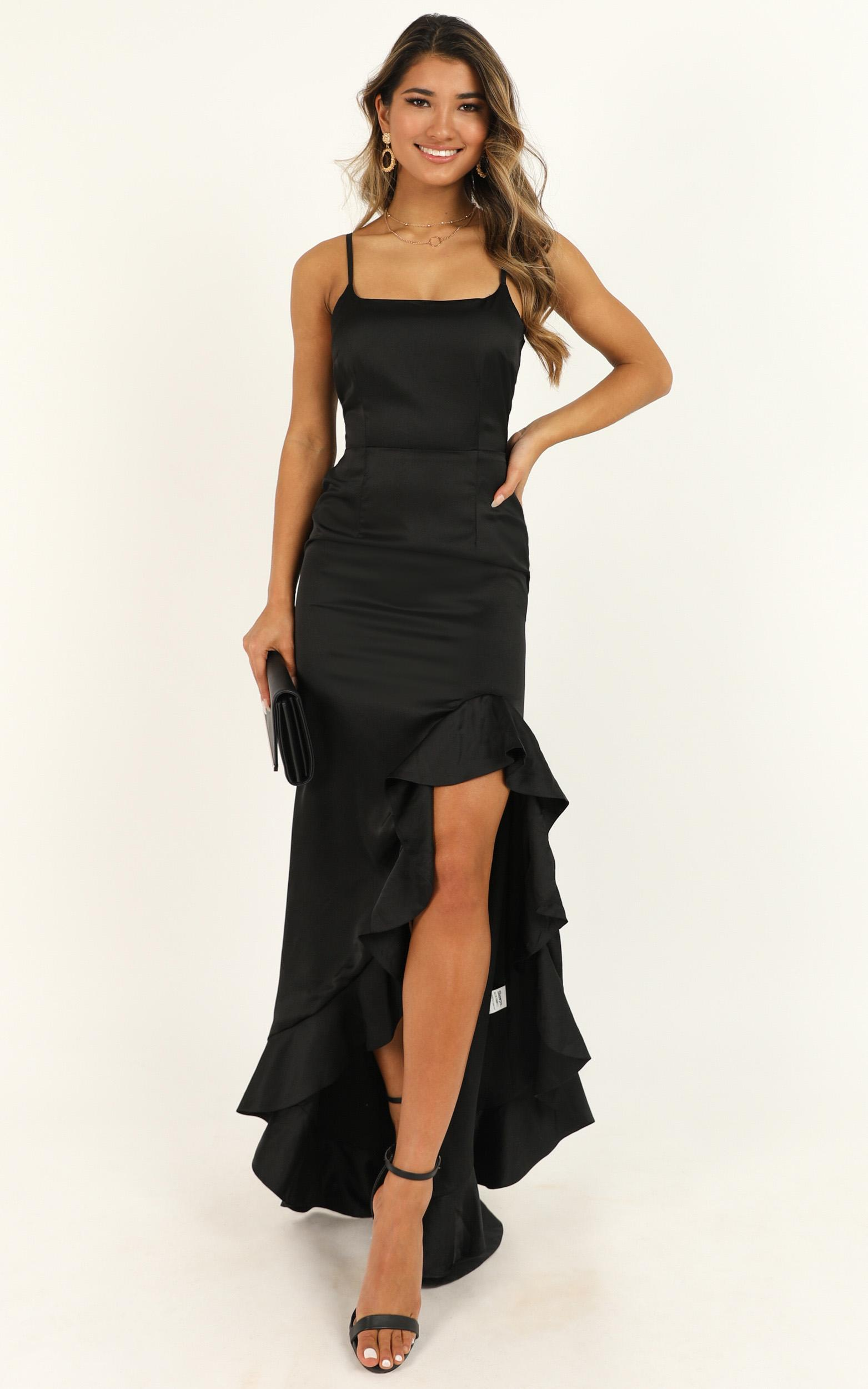 Find It In Your Heart Dress in black satin - 20 (XXXXL), Black, hi-res image number null