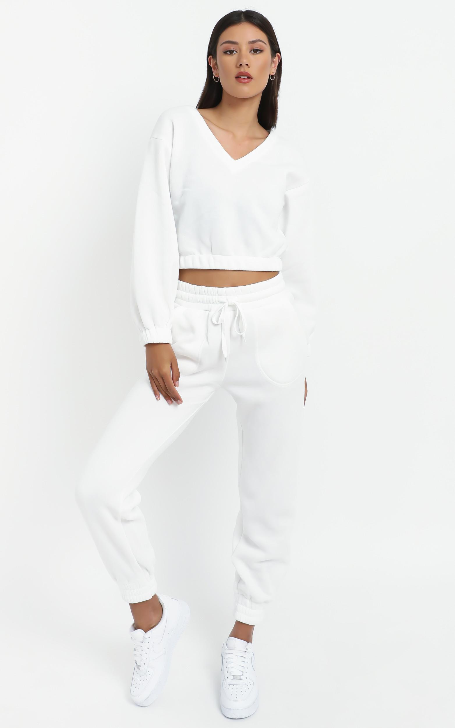 Mireya Sweat pants in White - 16 (XXL), White, hi-res image number null