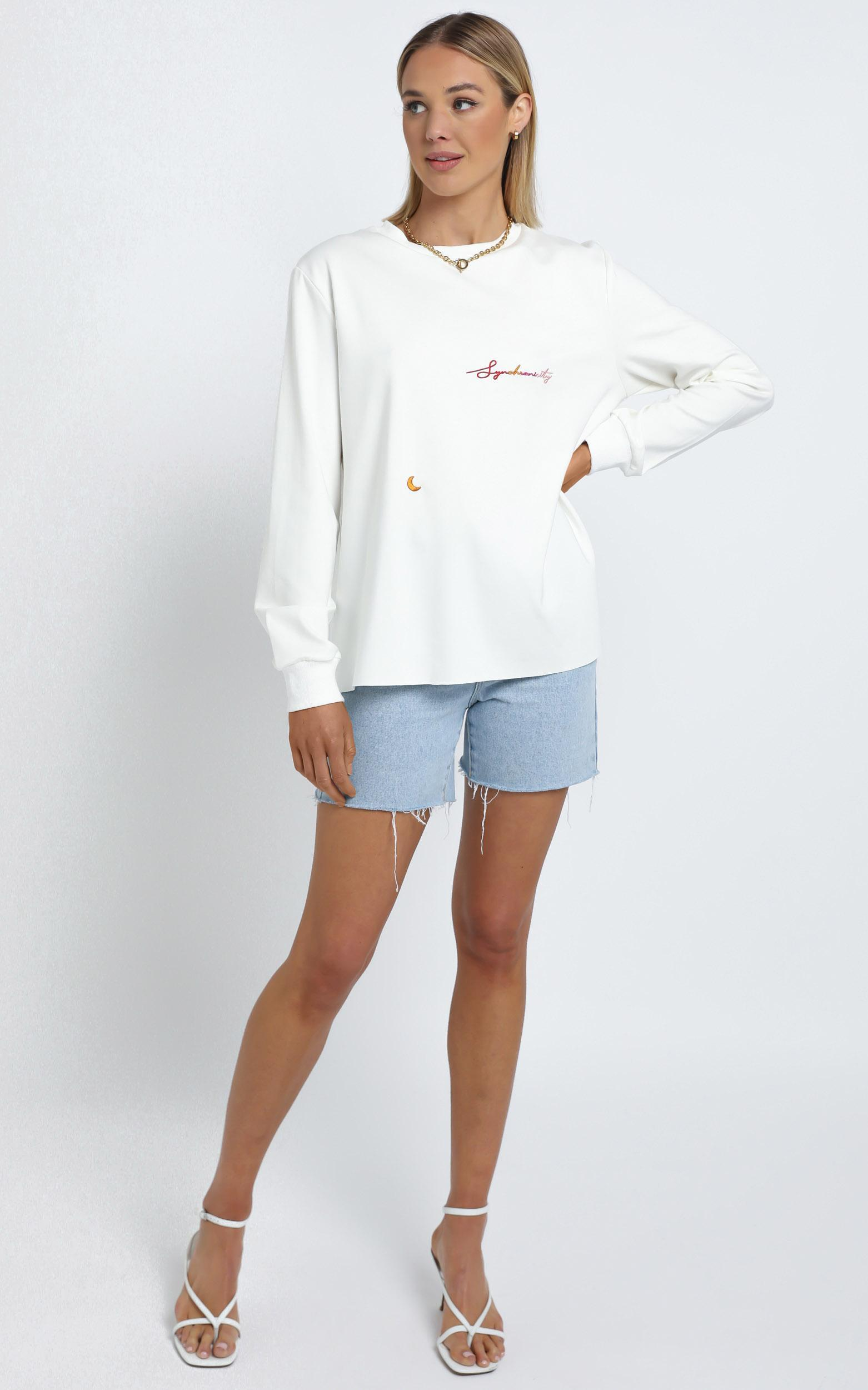 Zya The Label - Synchronicity Top in White - 14 (XL), White, hi-res image number null