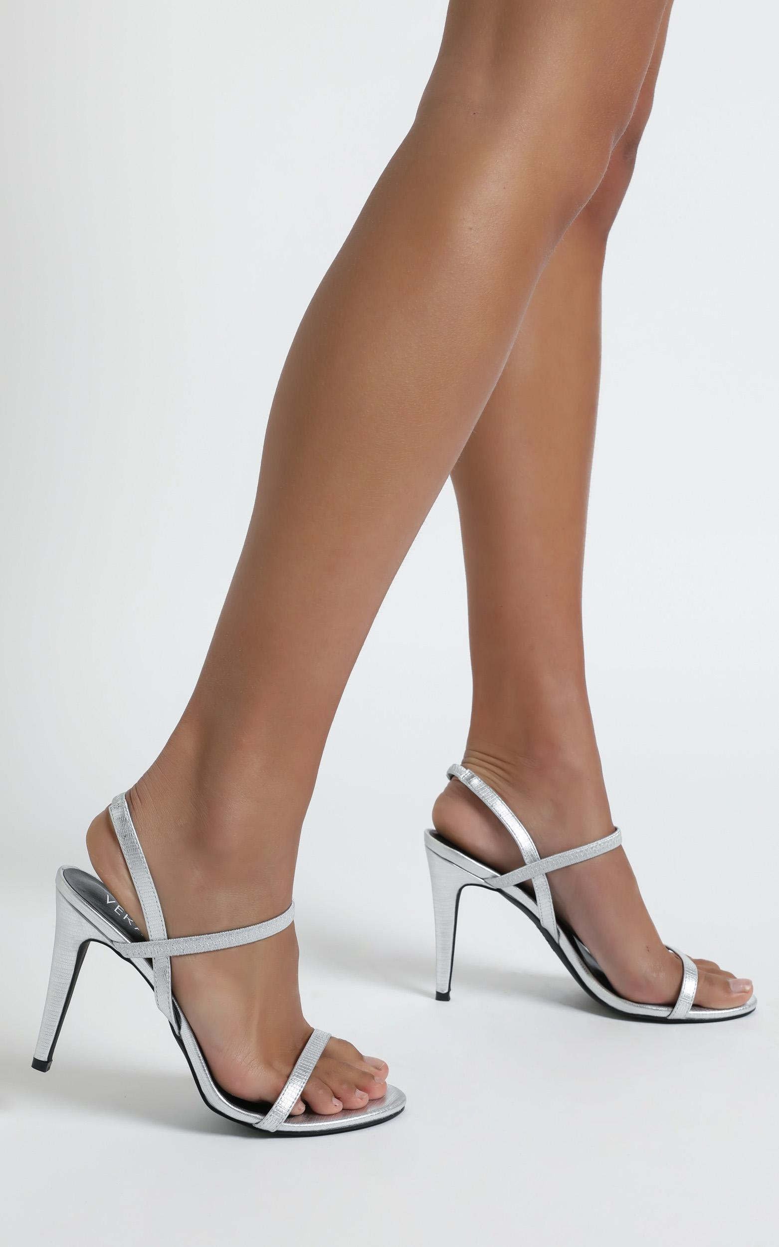 Verali - Obsess Heels In silver lizard - 5, Silver, hi-res image number null