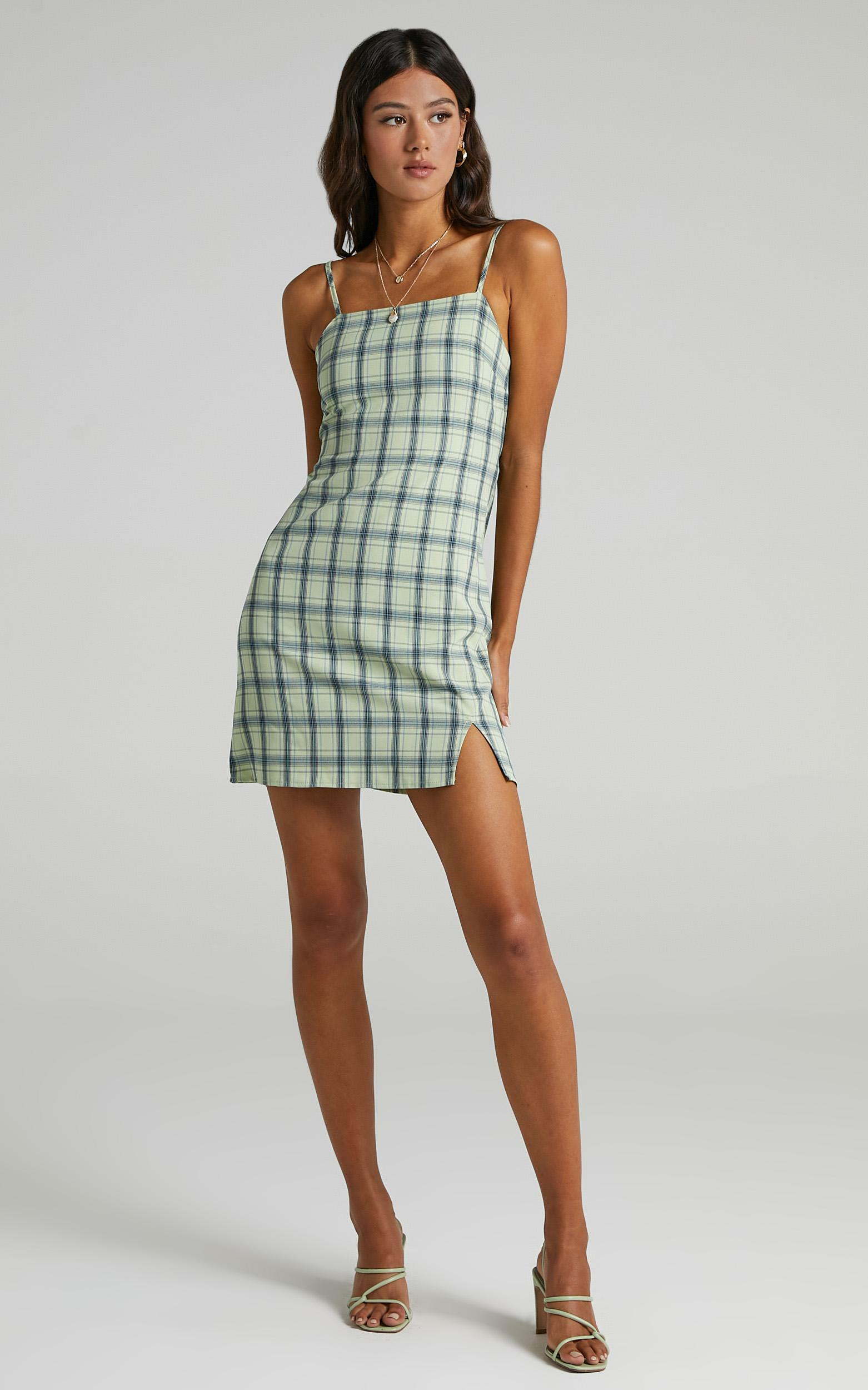 Maryssa Dress in Green Check - 08, GRN1, hi-res image number null