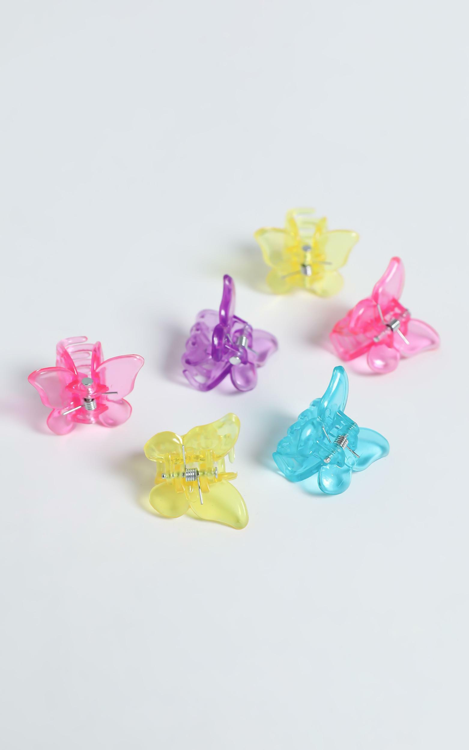 Butterfly Hair Clips in Multi, , hi-res image number null