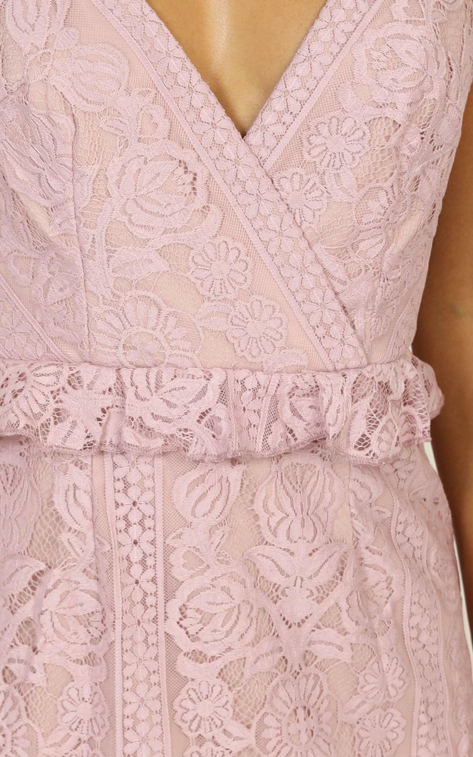 Roaming Free Dress in lilac lace - 14 (XL), Purple, hi-res image number null