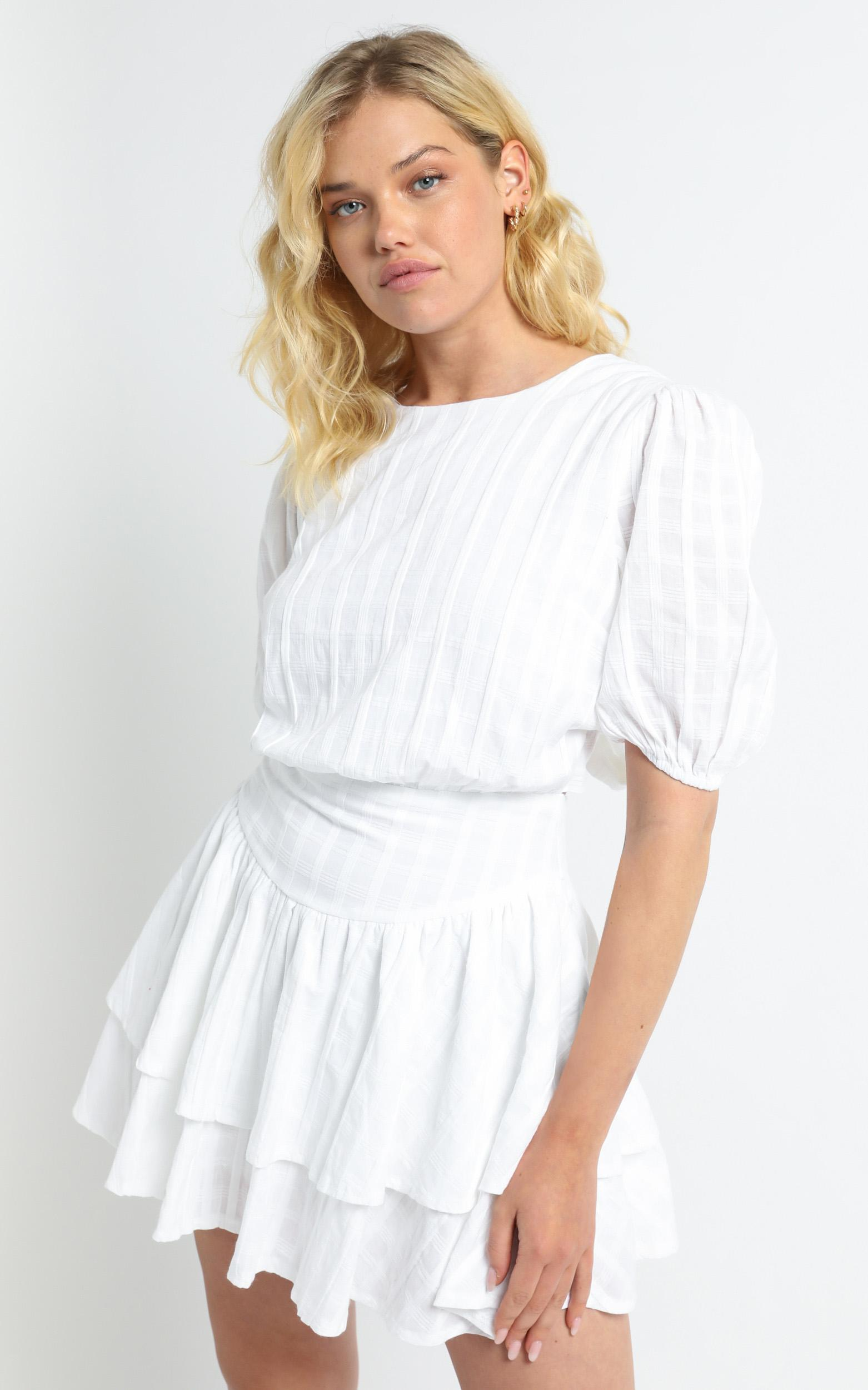 Joni Dress in White - 6 (XS), White, hi-res image number null