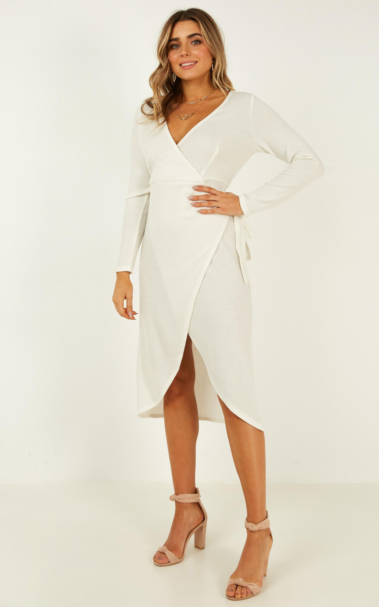 Feeling Electric knit dress in white - 14 (XL), White, hi-res image number null