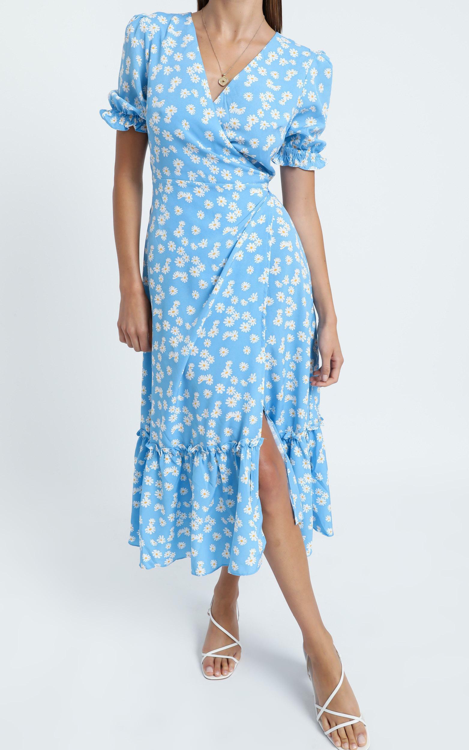 Washington Dress in Blue Floral - 06, BLU1, hi-res image number null
