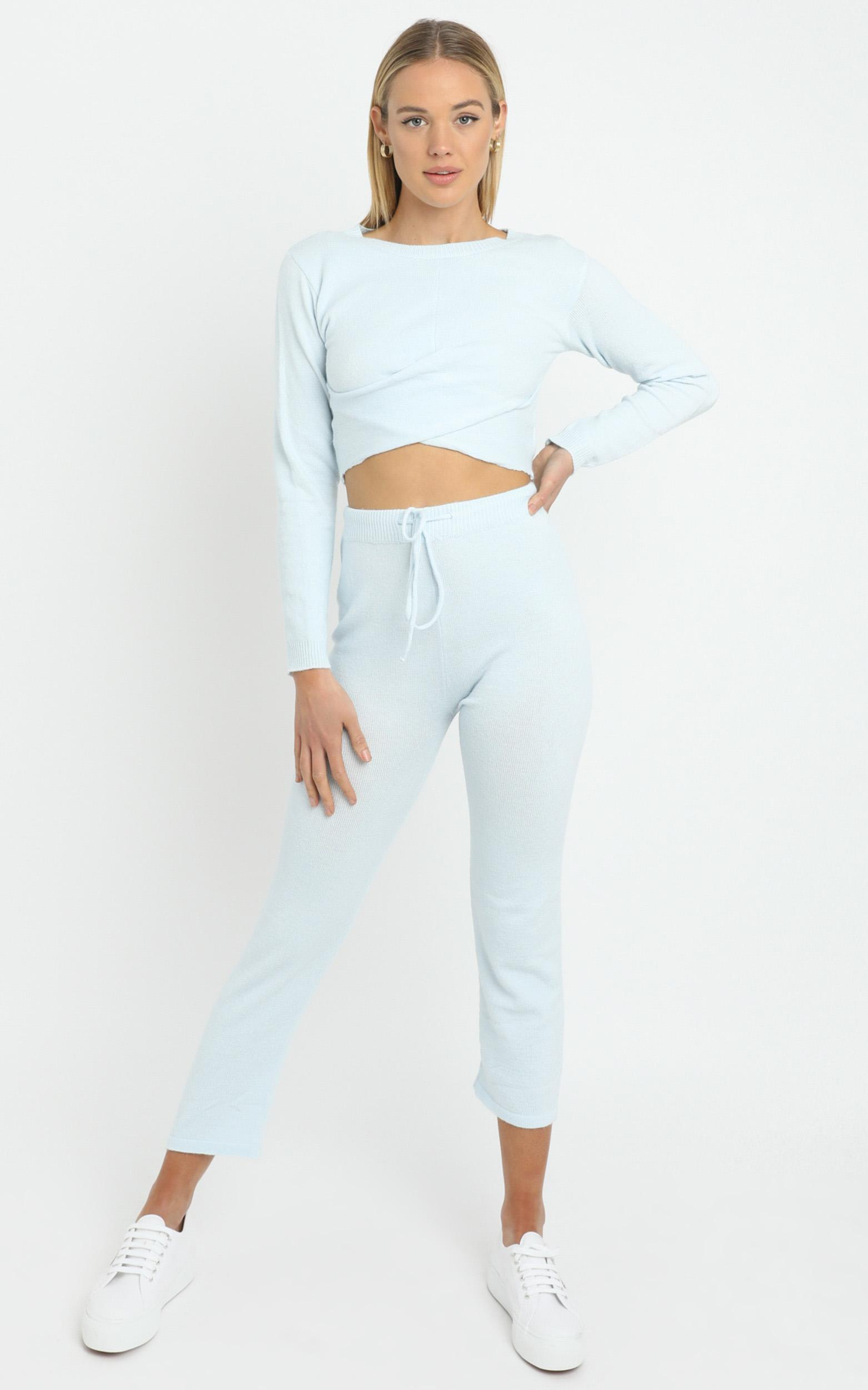 Deanna Knit Top in Baby Blue - L, Blue, hi-res image number null