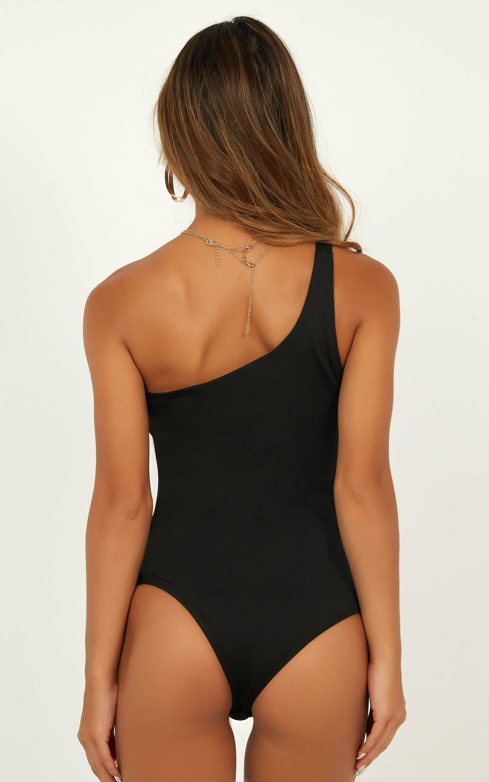 Checked In bodysuit in black - 20 (XXXXL), Black, hi-res image number null