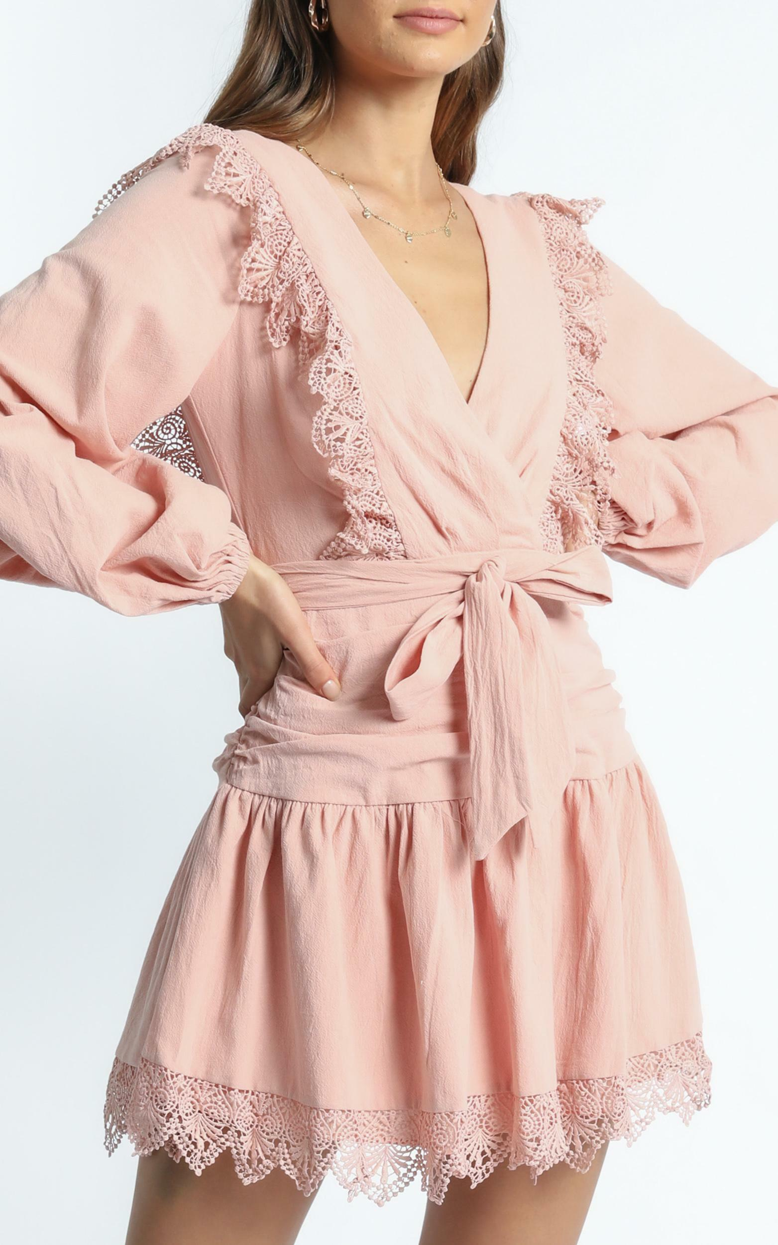 Bellevue Dress in Blush - 6 (XS), Blush, hi-res image number null