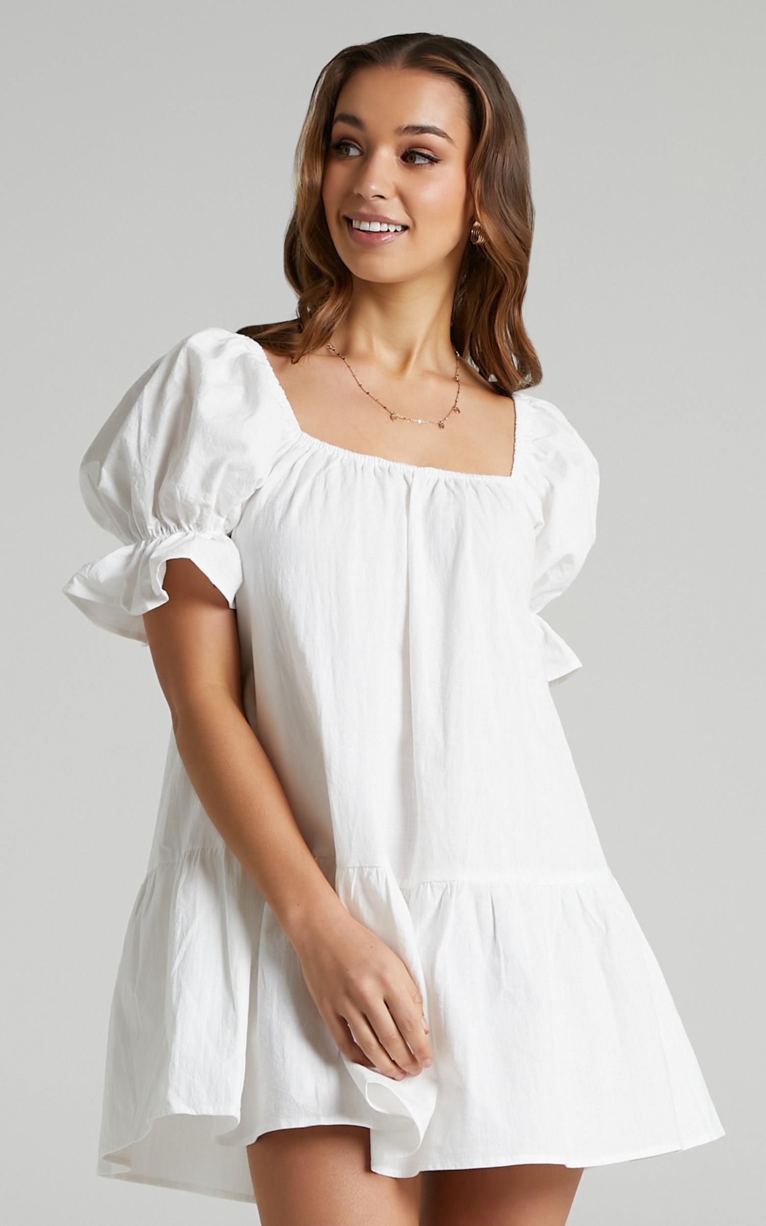 Poppy Dress in White - 06, WHT2, hi-res image number null