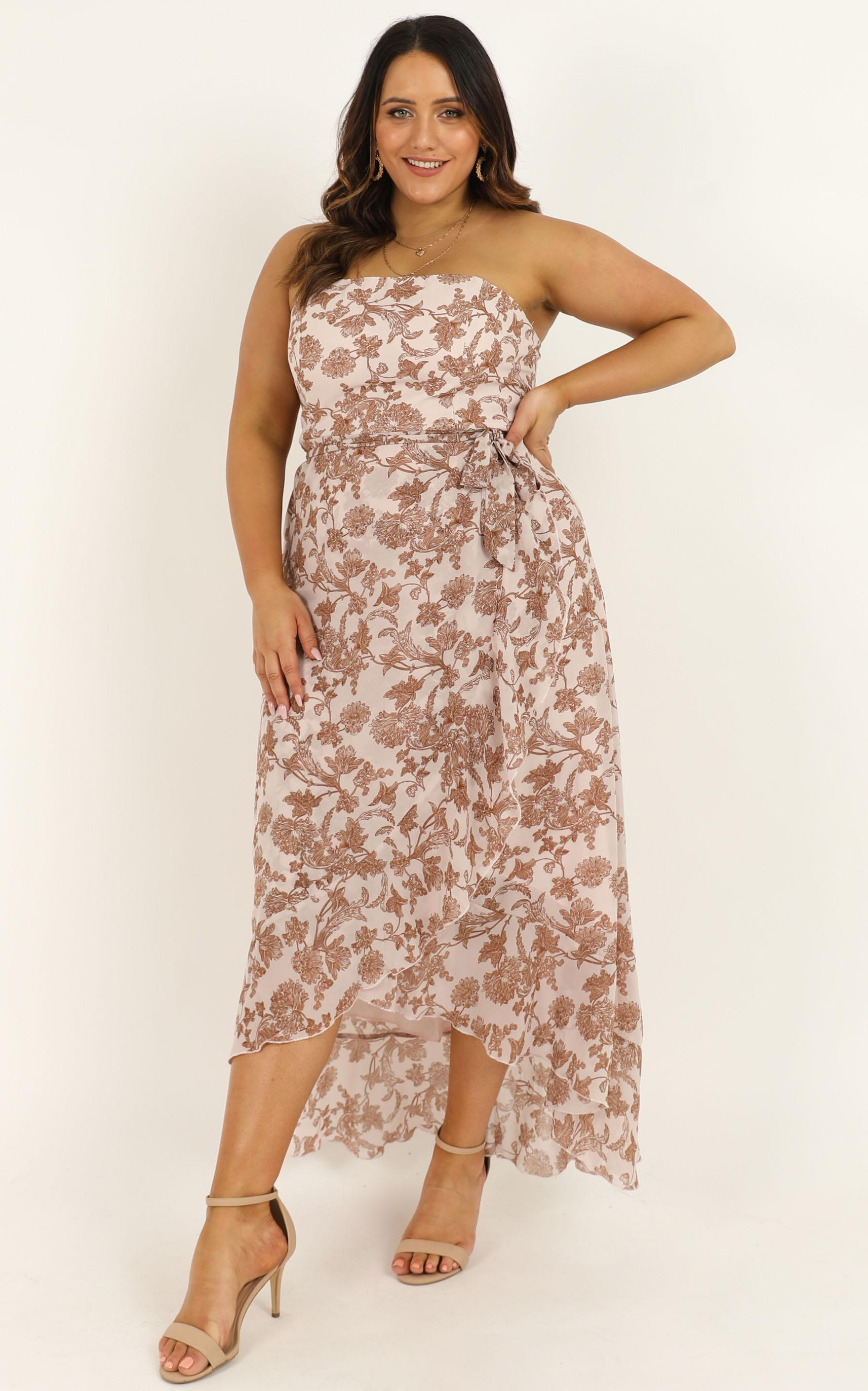 Be Good At It Dress in off white floral - 16 (XXL), White, hi-res image number null