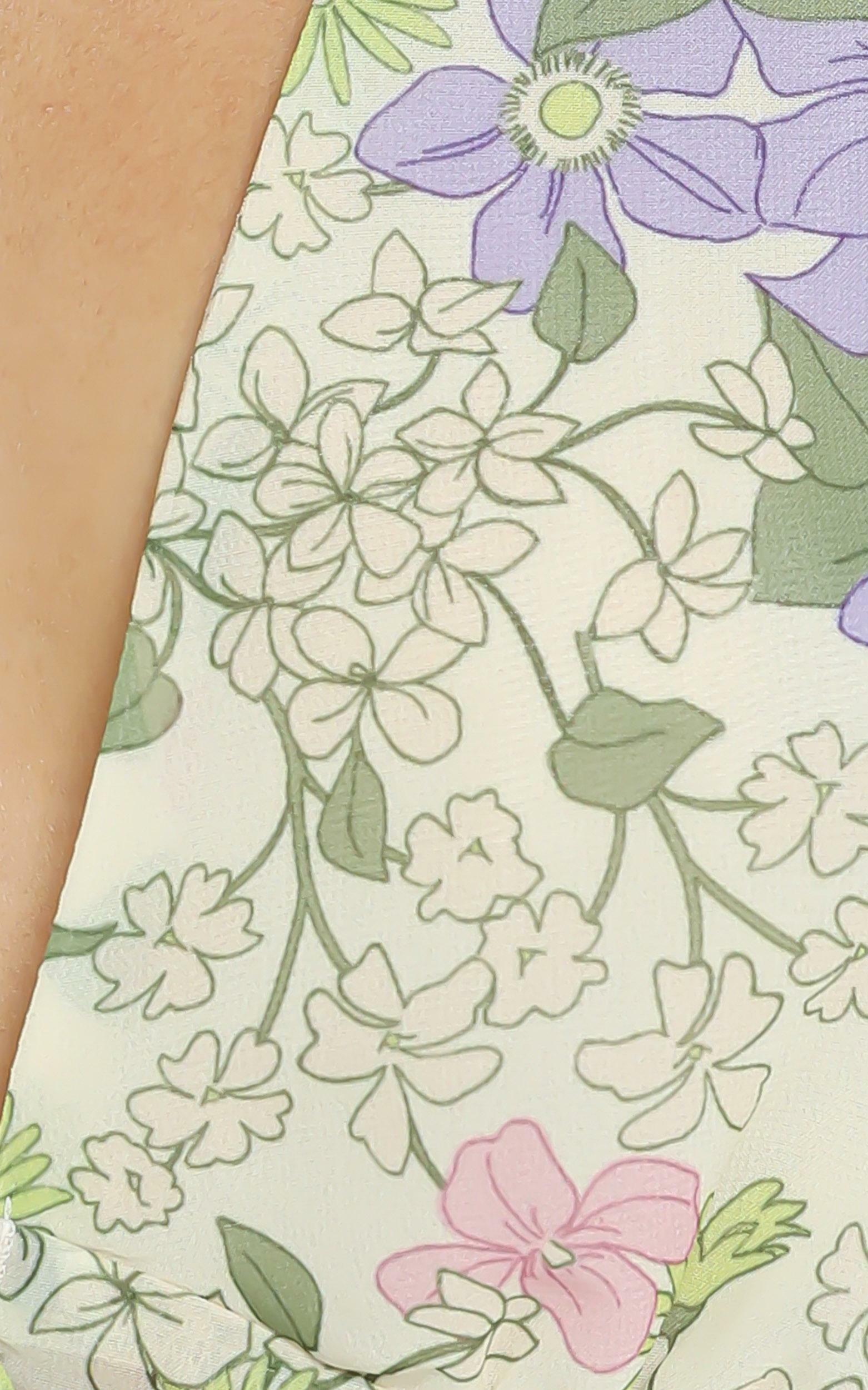 Dance it out top in Garden Floral - 4 (XXS), Green, hi-res image number null