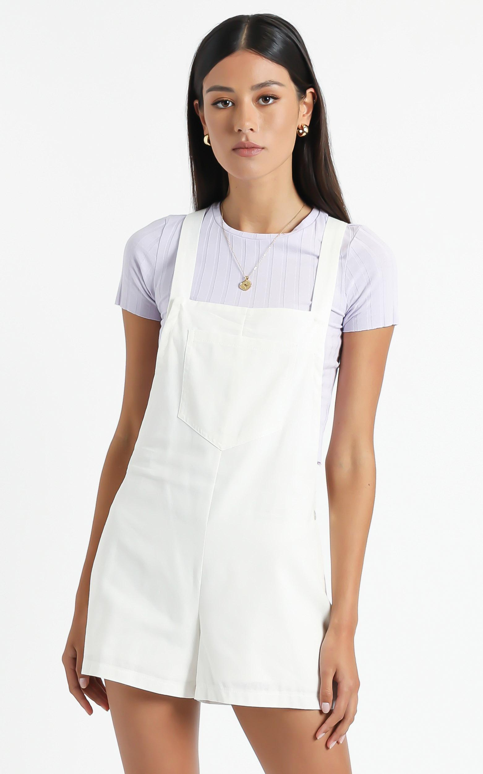 Kailua Playsuit in White - 6 (XS), White, hi-res image number null