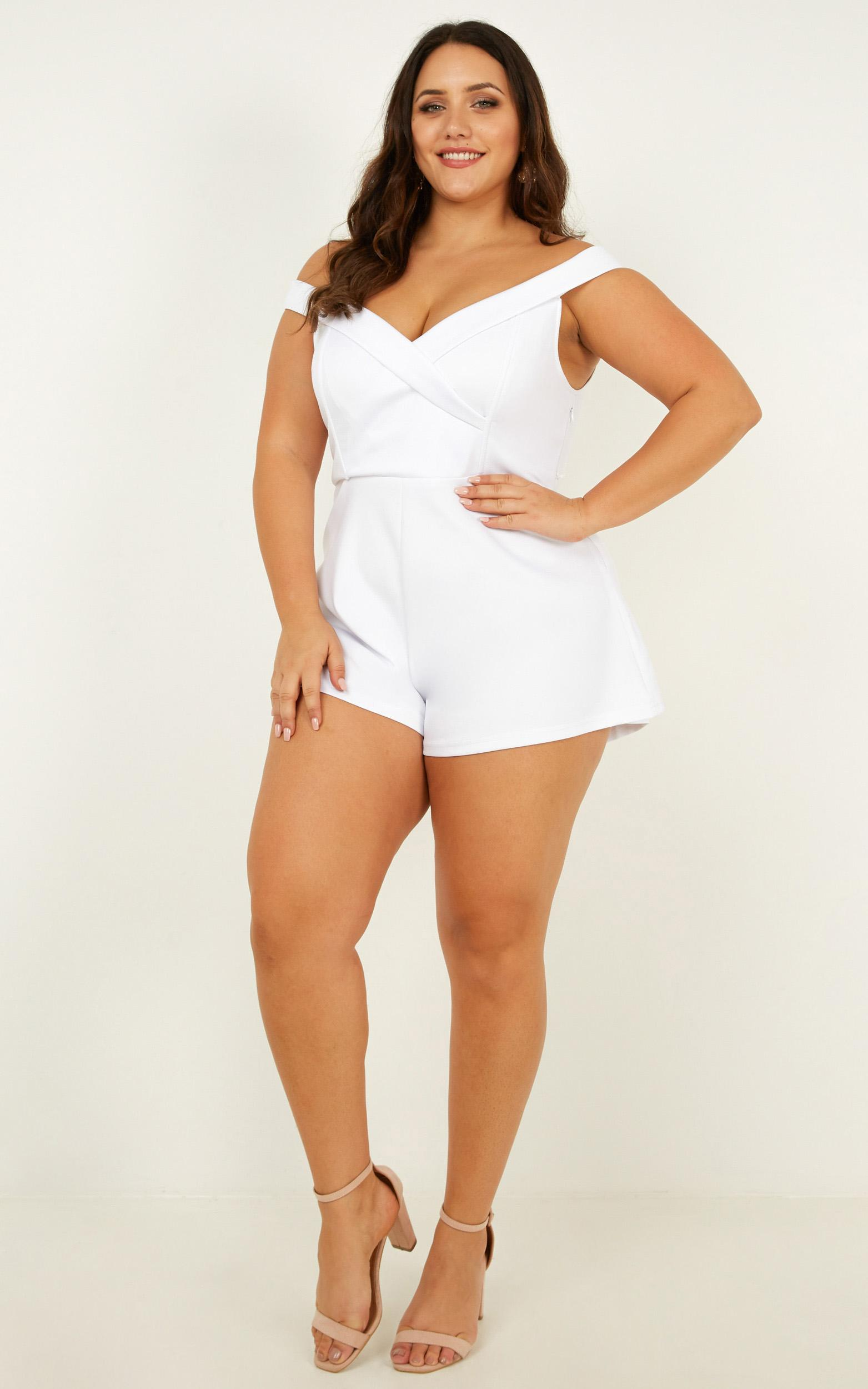 In The Spotlight playsuit in white - 20 (XXXXL), White, hi-res image number null