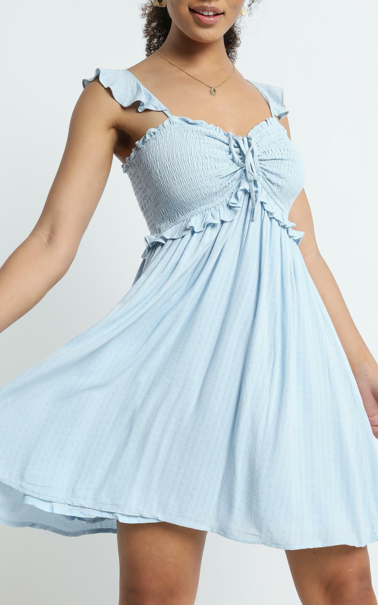 Rissa Dress in Blue - 6 (XS), Blue, hi-res image number null
