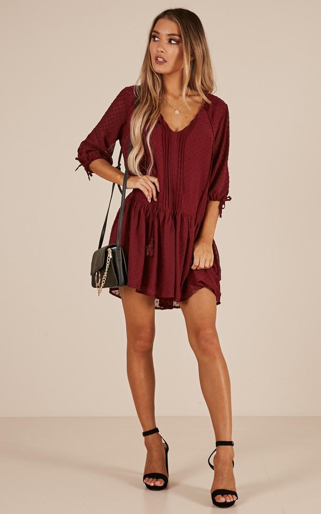 You Got A Dark Side dress in wine - 12 (L), Wine, hi-res image number null