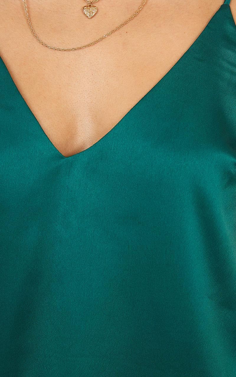 My Only Sunshine Top in emerald satin - 20 (XXXXL), Green, hi-res image number null