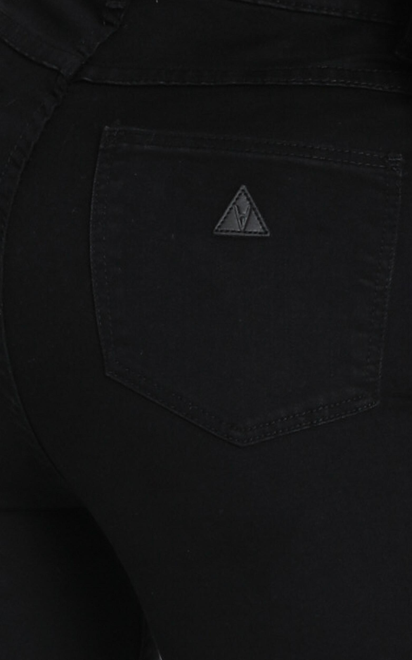 Abrand - A High Skinny Ankle Basher Jeans in black magic - 14 (XL), Black, hi-res image number null