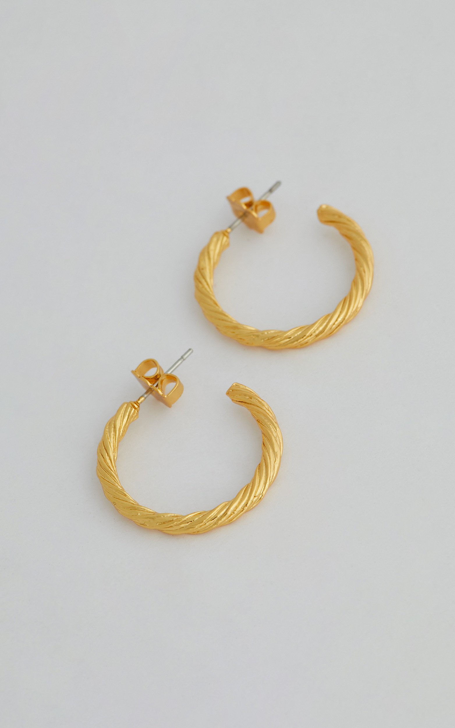 LEGACY HOOP EARRINGS in Gold - NoSize, GLD1, hi-res image number null