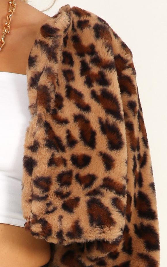 The Fury Jacket in leopard - 20 (XXXXL), Brown, hi-res image number null
