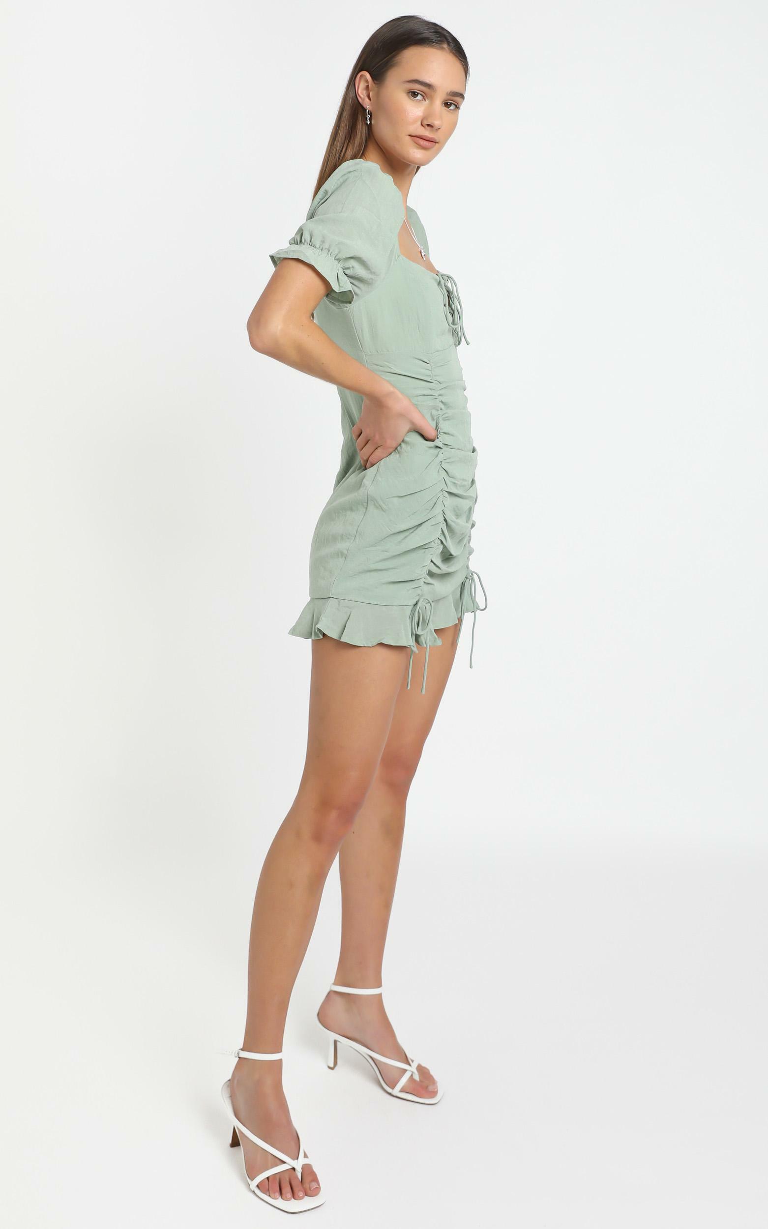 Makenzie Dress in Sage, Green, hi-res image number null