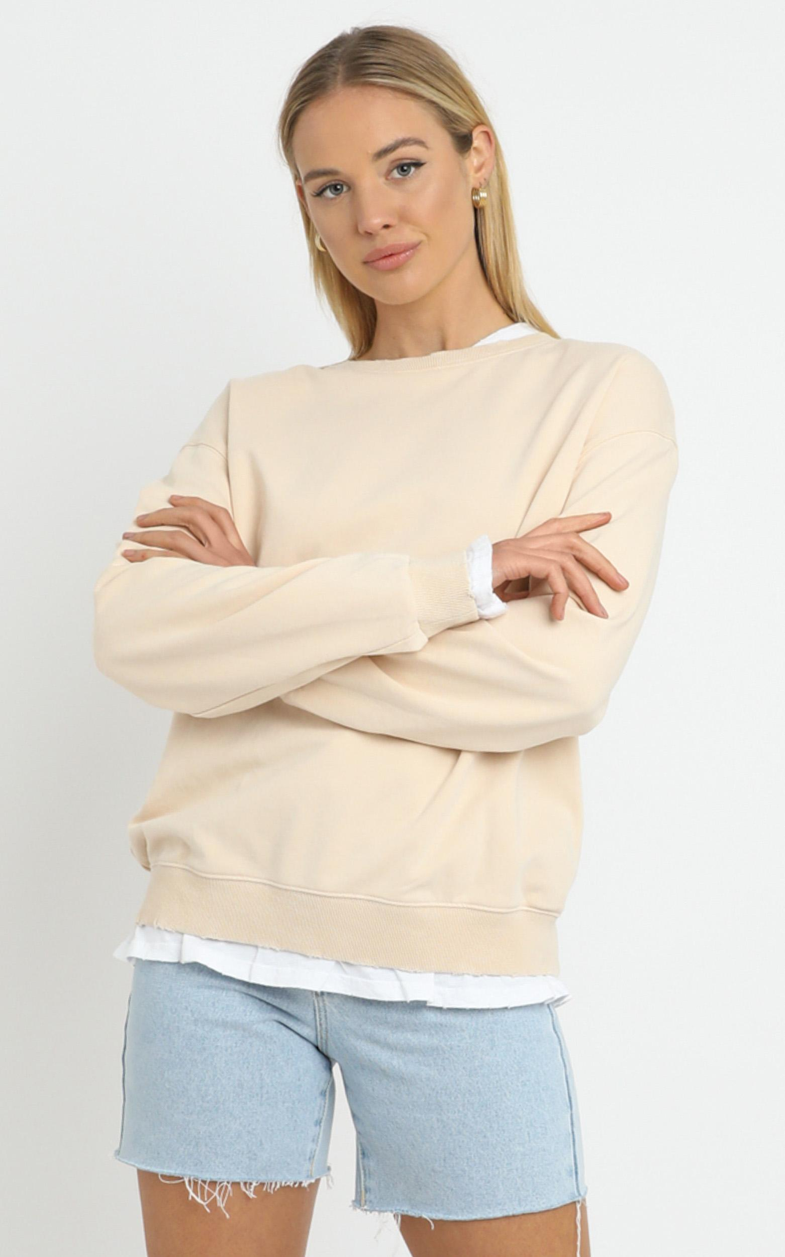 Terry Sweater in Beige - 14 (XL), Cream, hi-res image number null