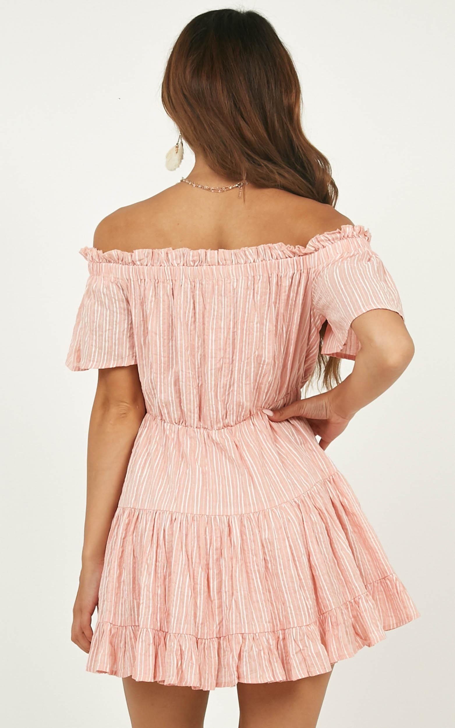 Wish Me Lucky Dress In Blush Stripe - 4 (XXS), Blush, hi-res image number null
