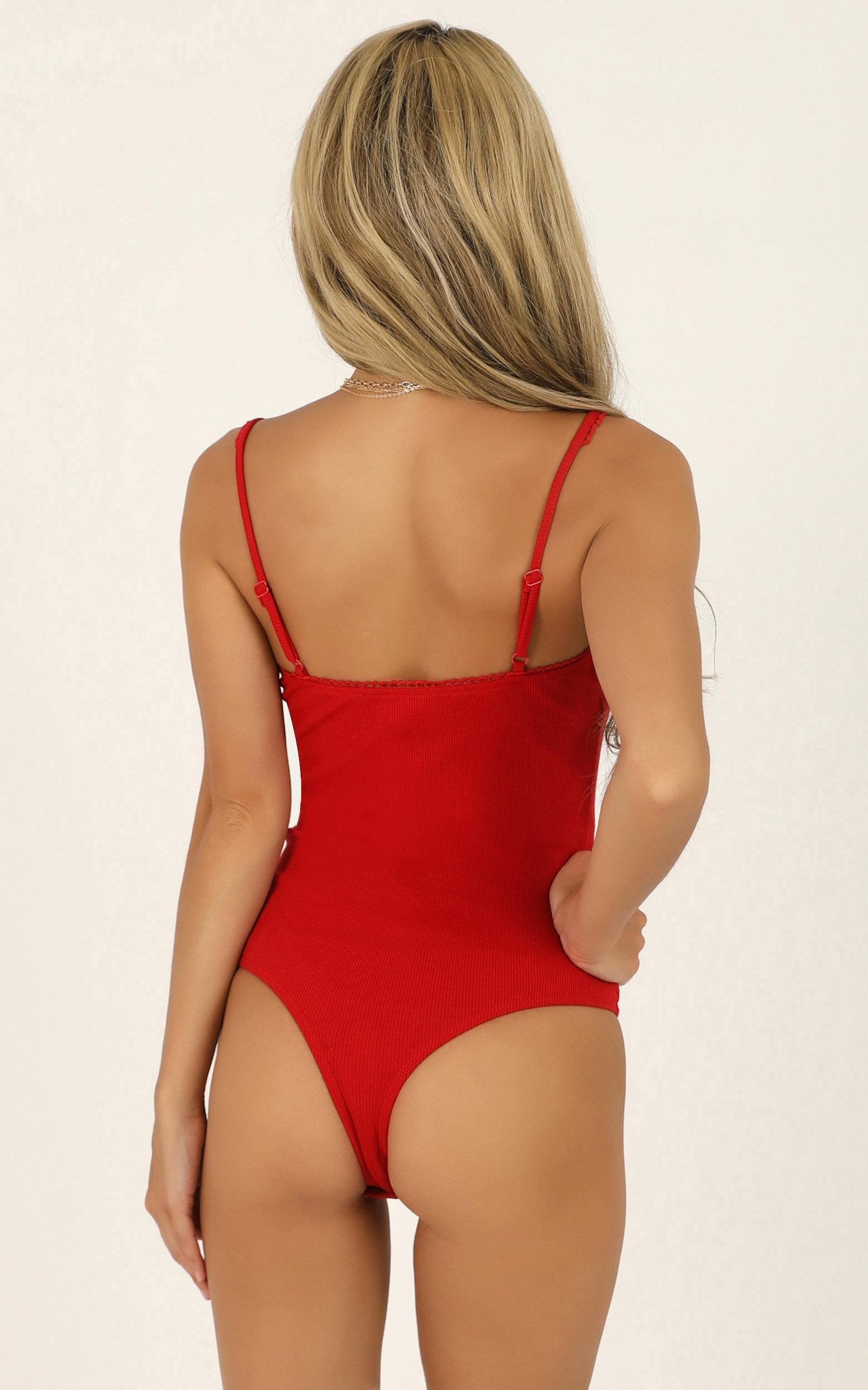 Girl In Charge bodysuit in red - 20 (XXXXL), Red, hi-res image number null