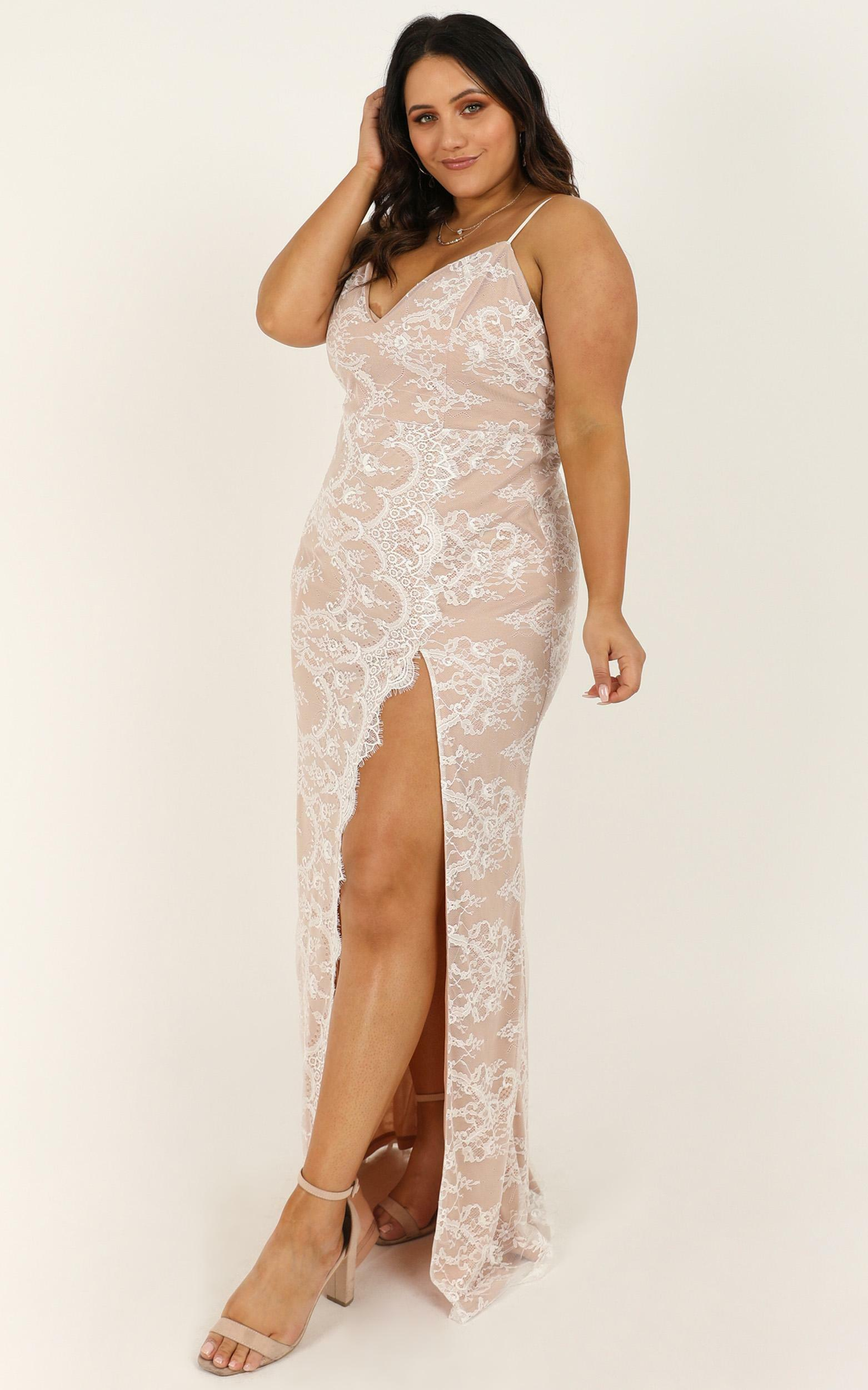 Wrap Me Up In Lace Dress in white lace - 18 (XXXL), White, hi-res image number null