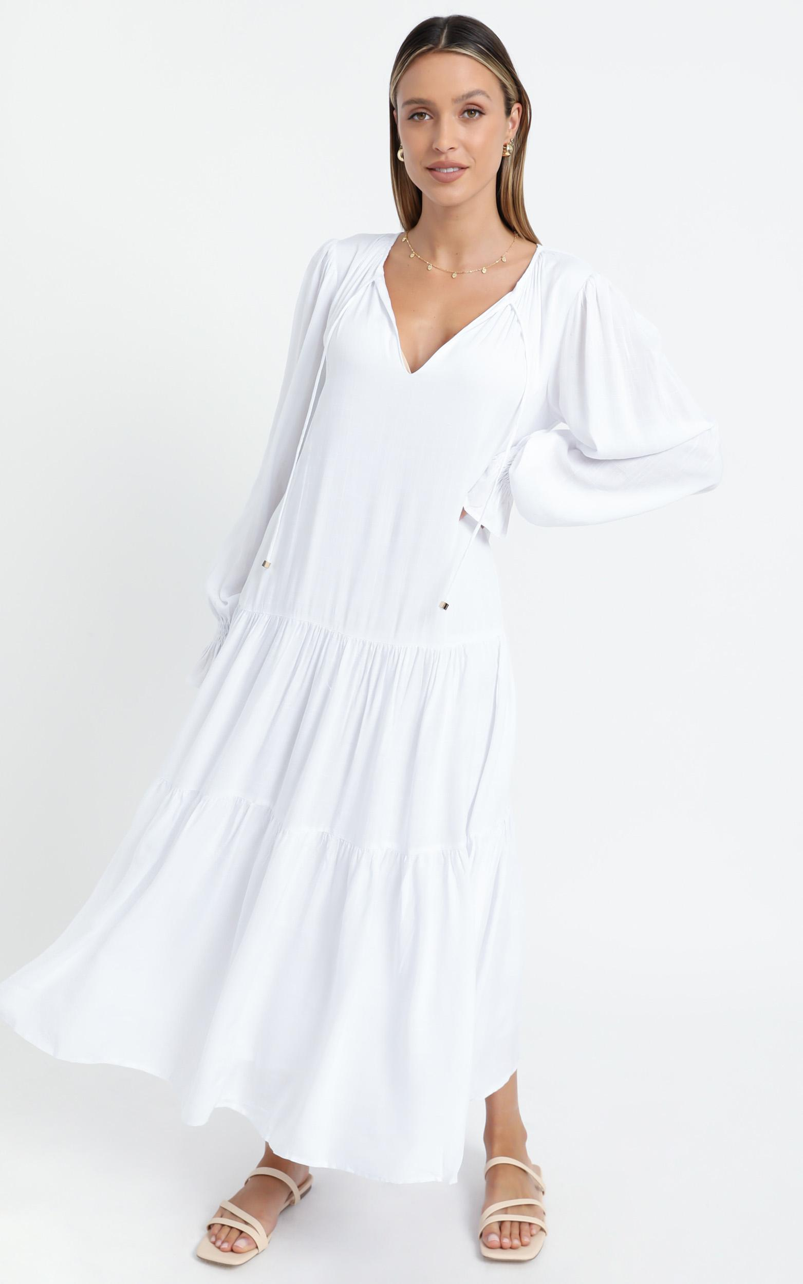 Bodil Dress in White - 6 (XS), White, hi-res image number null