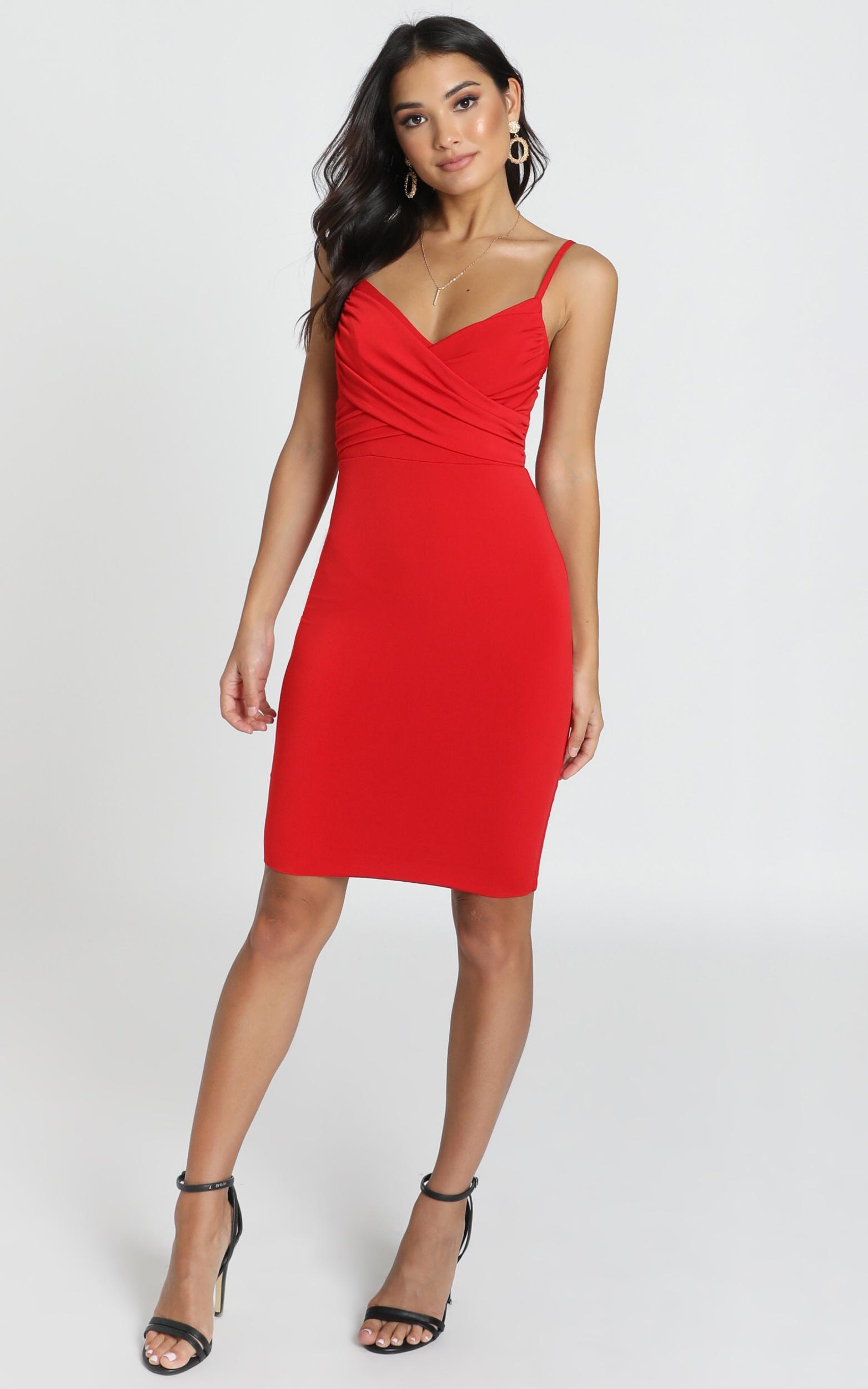 Happy Lies Dress in red- 6 (XS), Red, hi-res image number null