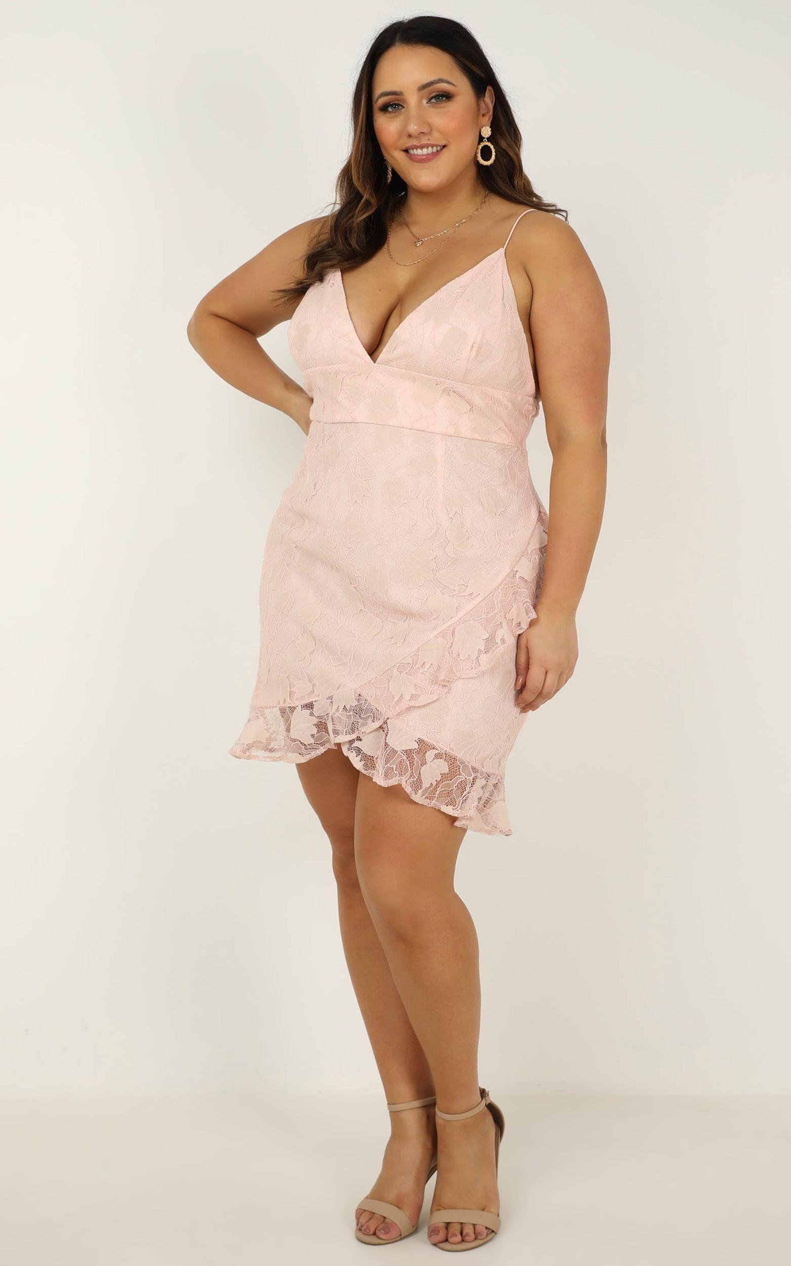 Must Admit Dress in blush lace - 20 (XXXXL), Blush, hi-res image number null
